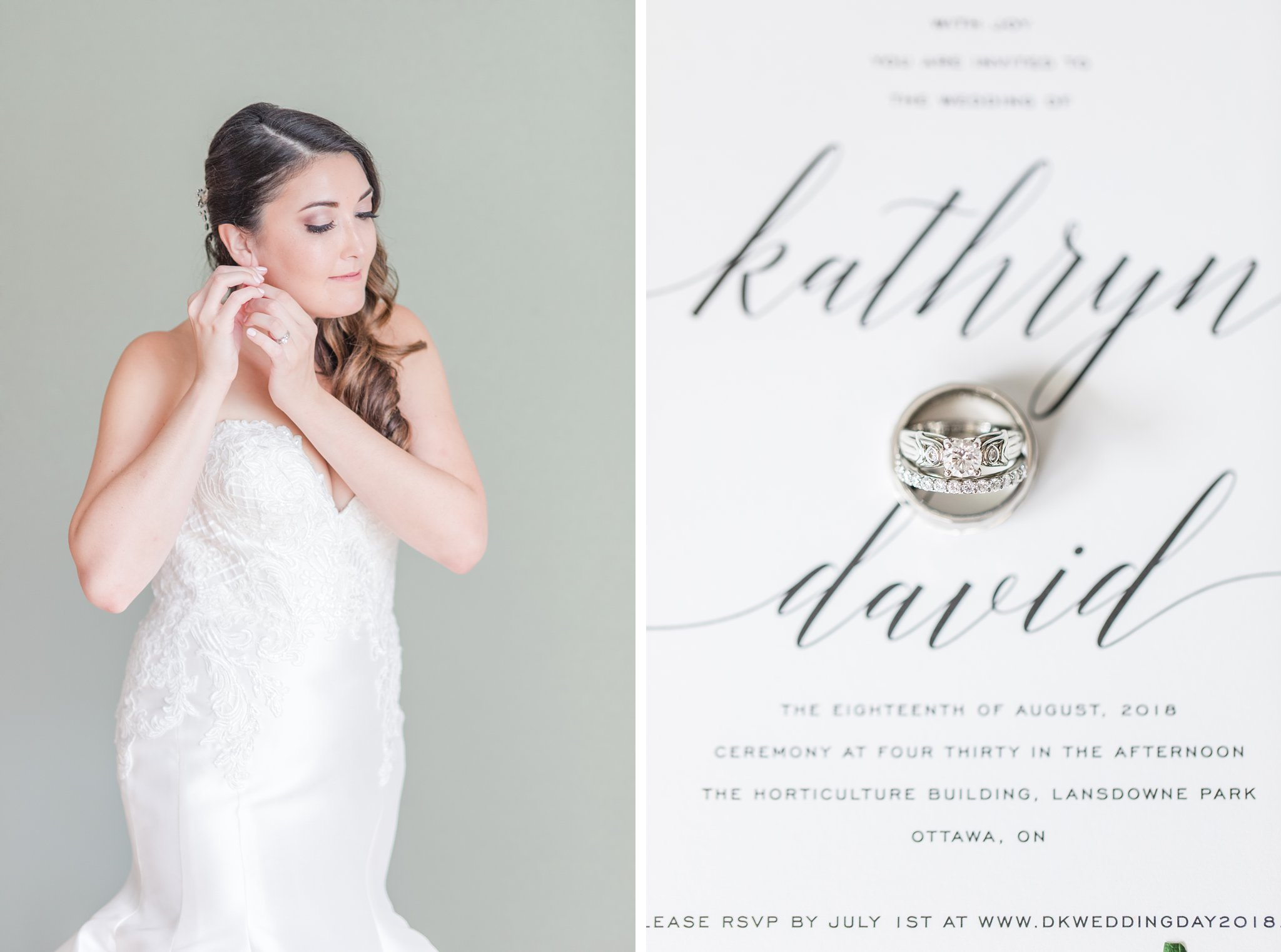 Simple calligraphy invitation Horticulture Building wedding at Lansdowne Amy Pinder Photography