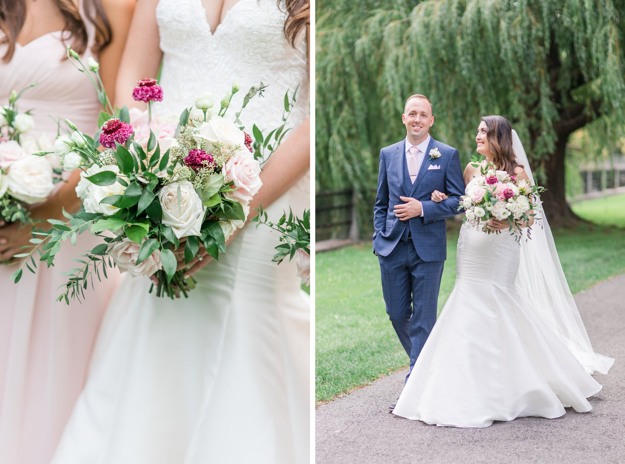 Blush and mauve bouquet Horticulture Building wedding at Lansdowne Amy Pinder Photography