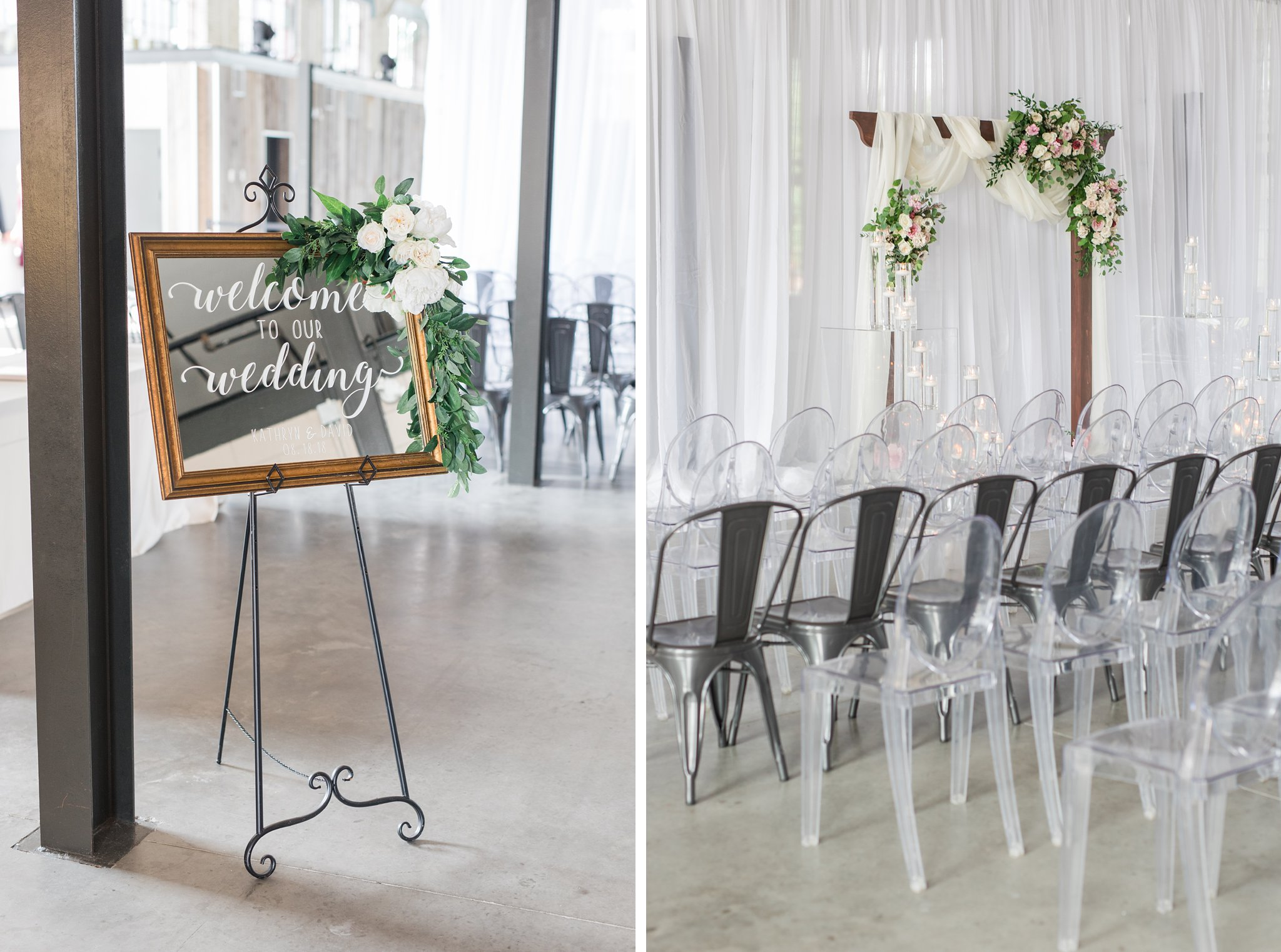 Calligraphy sign welcome to wedding Horticulture Building wedding at Lansdowne Amy Pinder Photography