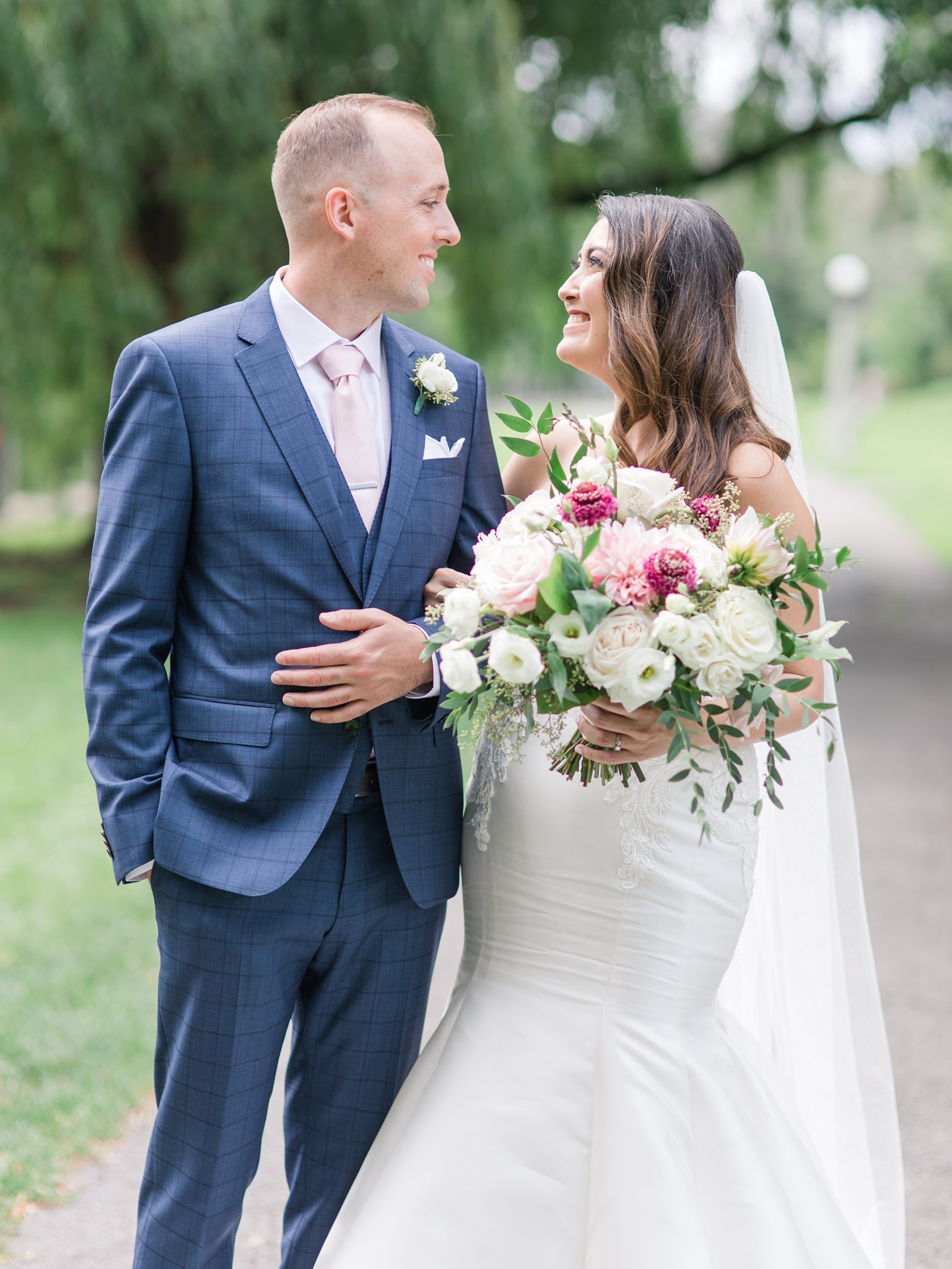 712d849792 Park near Horticulture Building wedding at Lansdowne Amy Pinder Photography.  Kathryn ...
