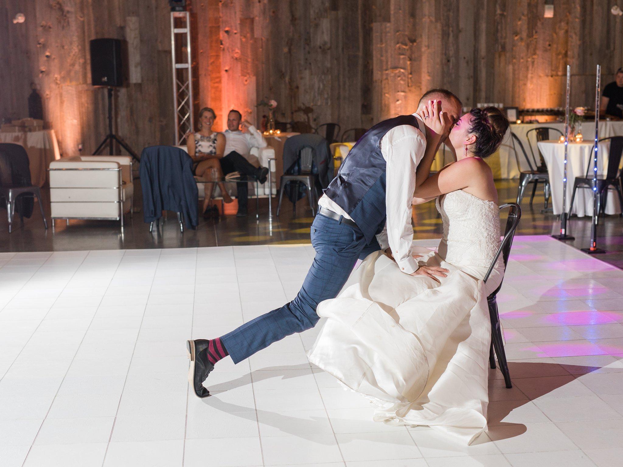 Garter toss Horticulture Building wedding at Lansdowne Amy Pinder Photography