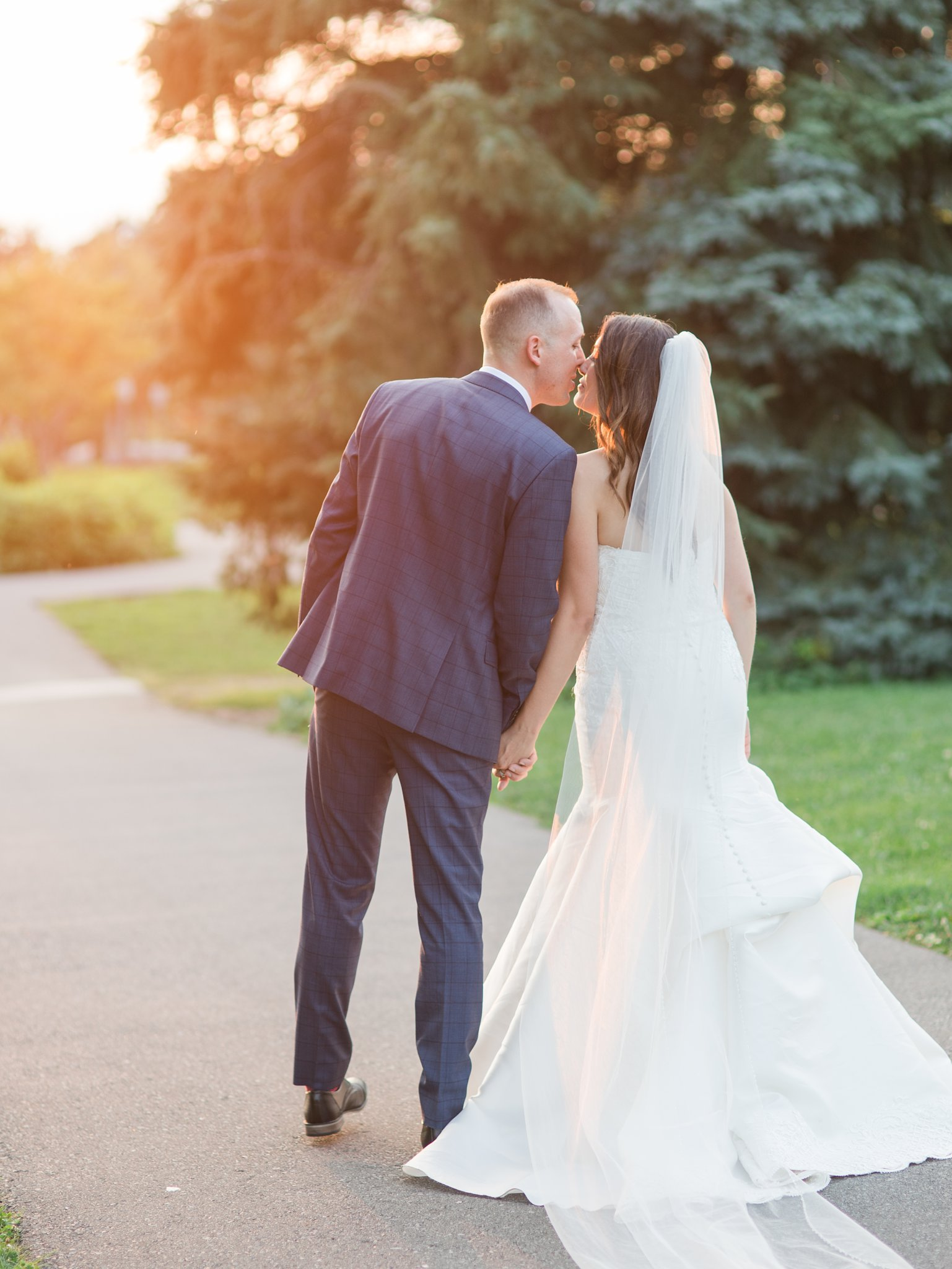Sunset golden hour Horticulture Building wedding at Lansdowne Amy Pinder Photography