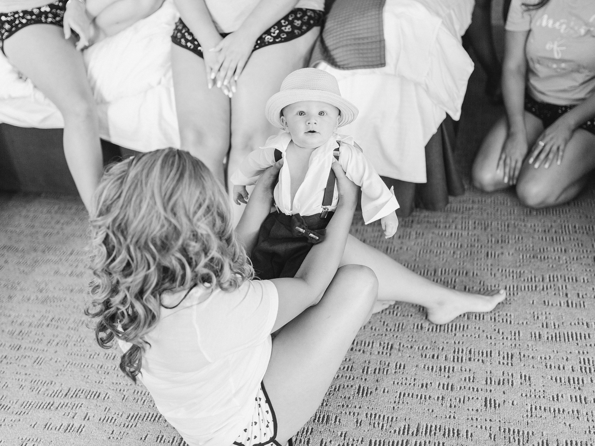 Baby outfit with hat Vineyard wedding at Jabulani Amy Pinder Photography