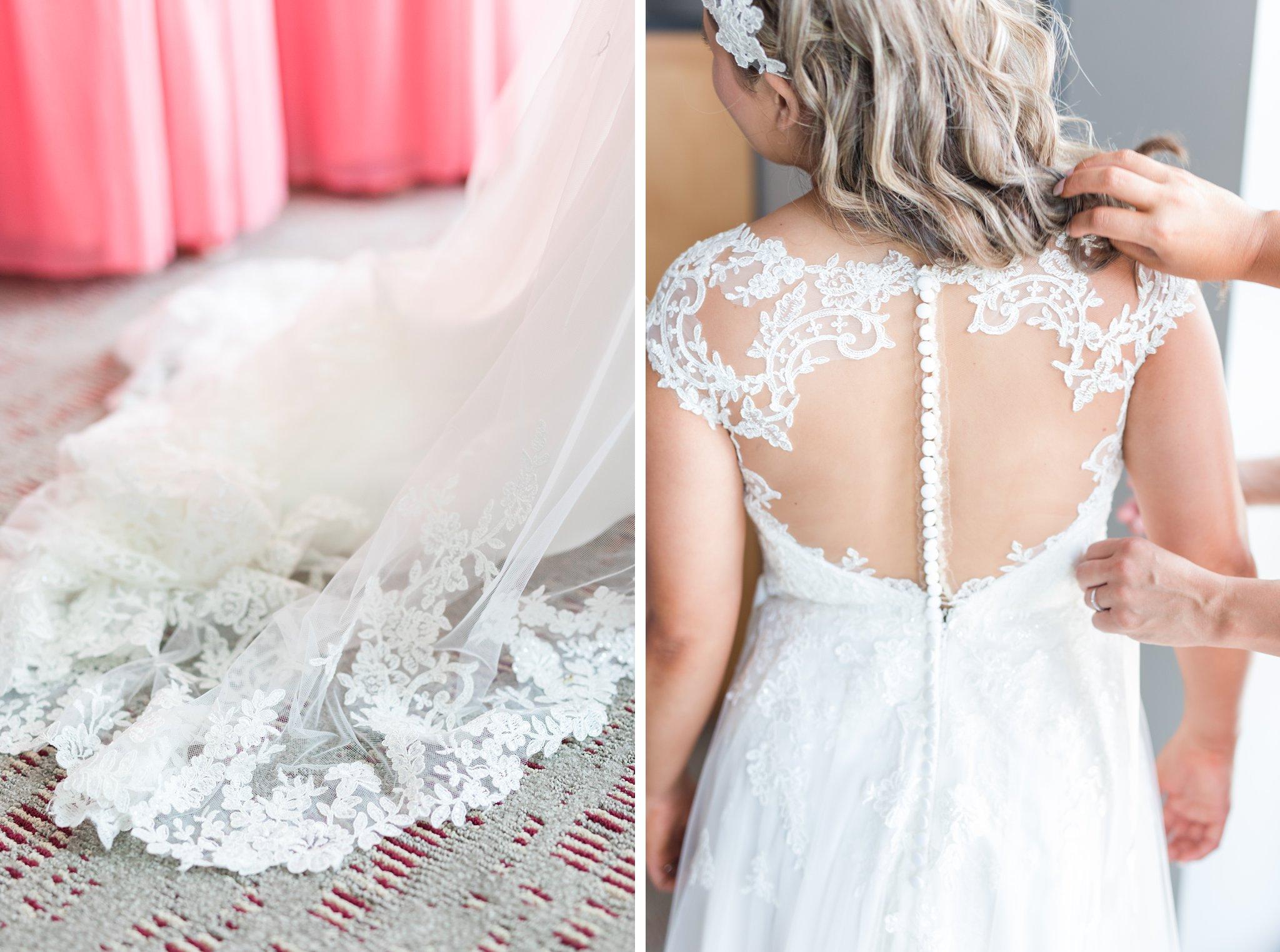 elegant lace back dress Vineyard wedding at Jabulani Amy Pinder Photography