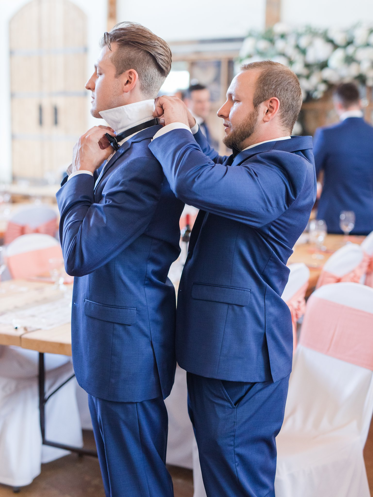 Navy blue wedding suit Vineyard wedding at Jabulani Amy Pinder Photography
