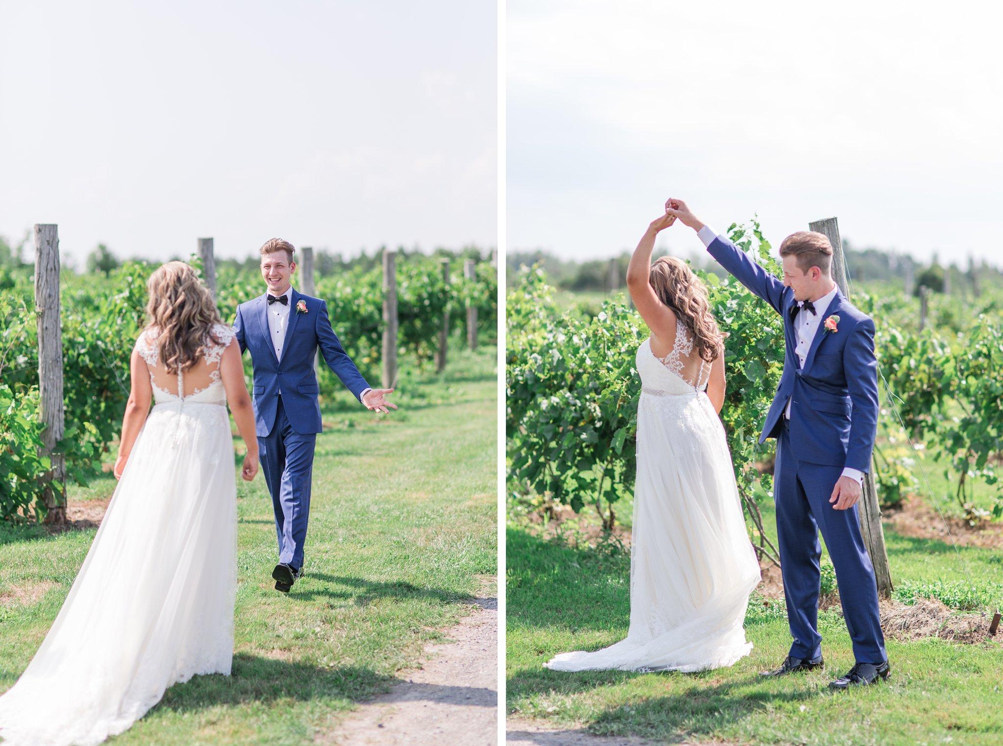 Blue suit Vineyard wedding at Jabulani Amy Pinder Photography