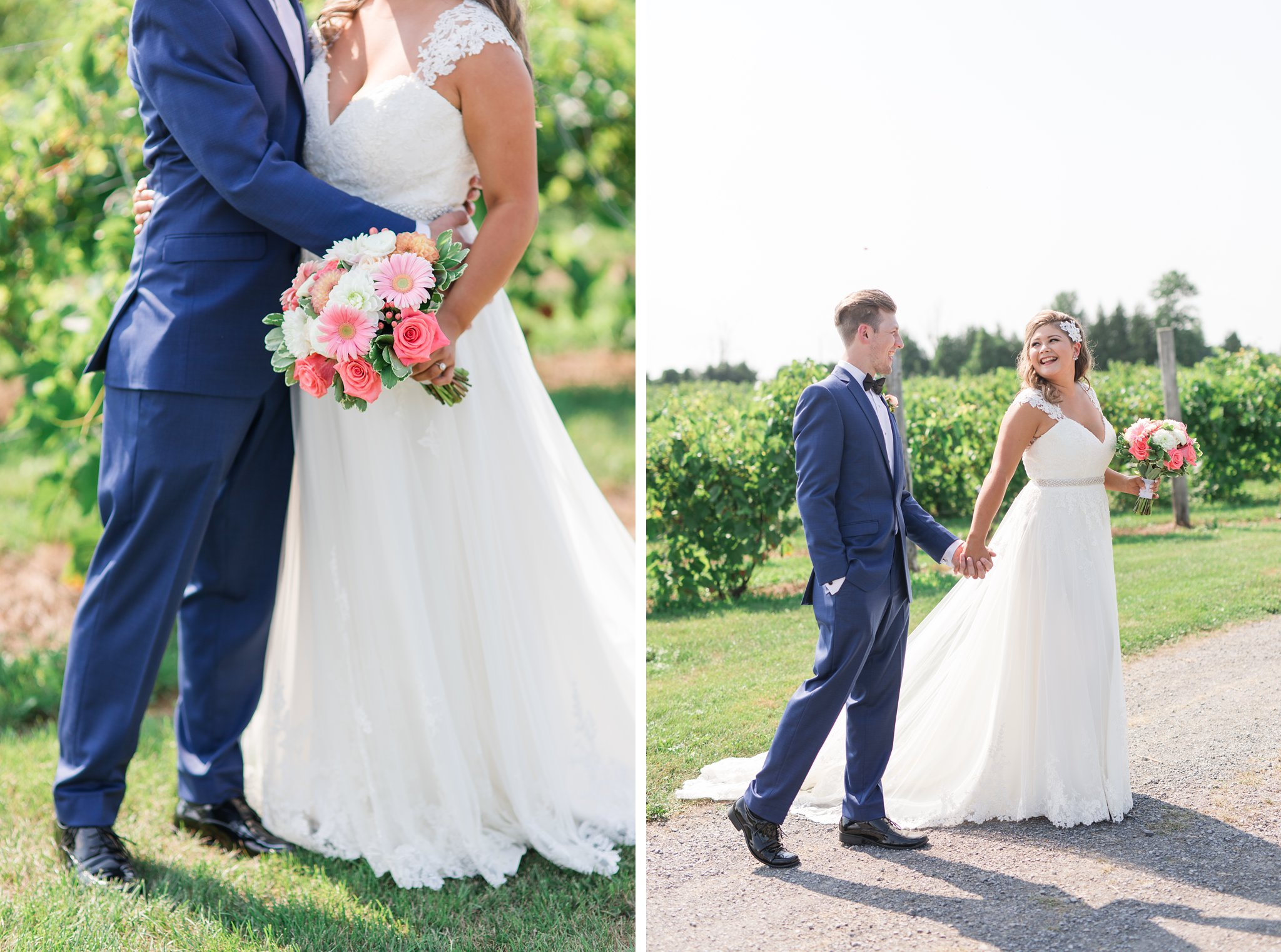Pink bouquet with berries Vineyard wedding at Jabulani Amy Pinder Photography
