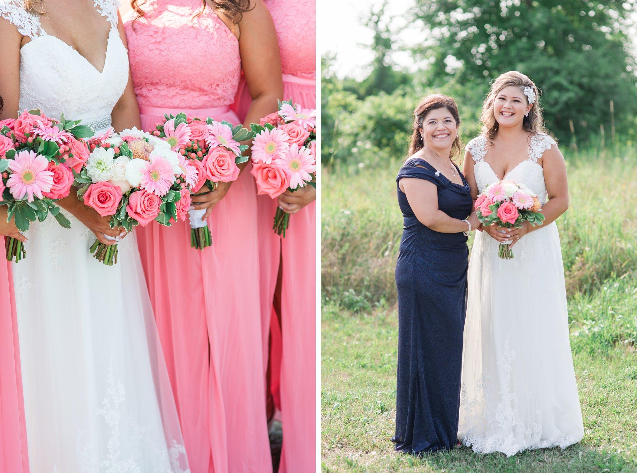 Bright pink bridesmaids Vineyard wedding at Jabulani Amy Pinder Photography