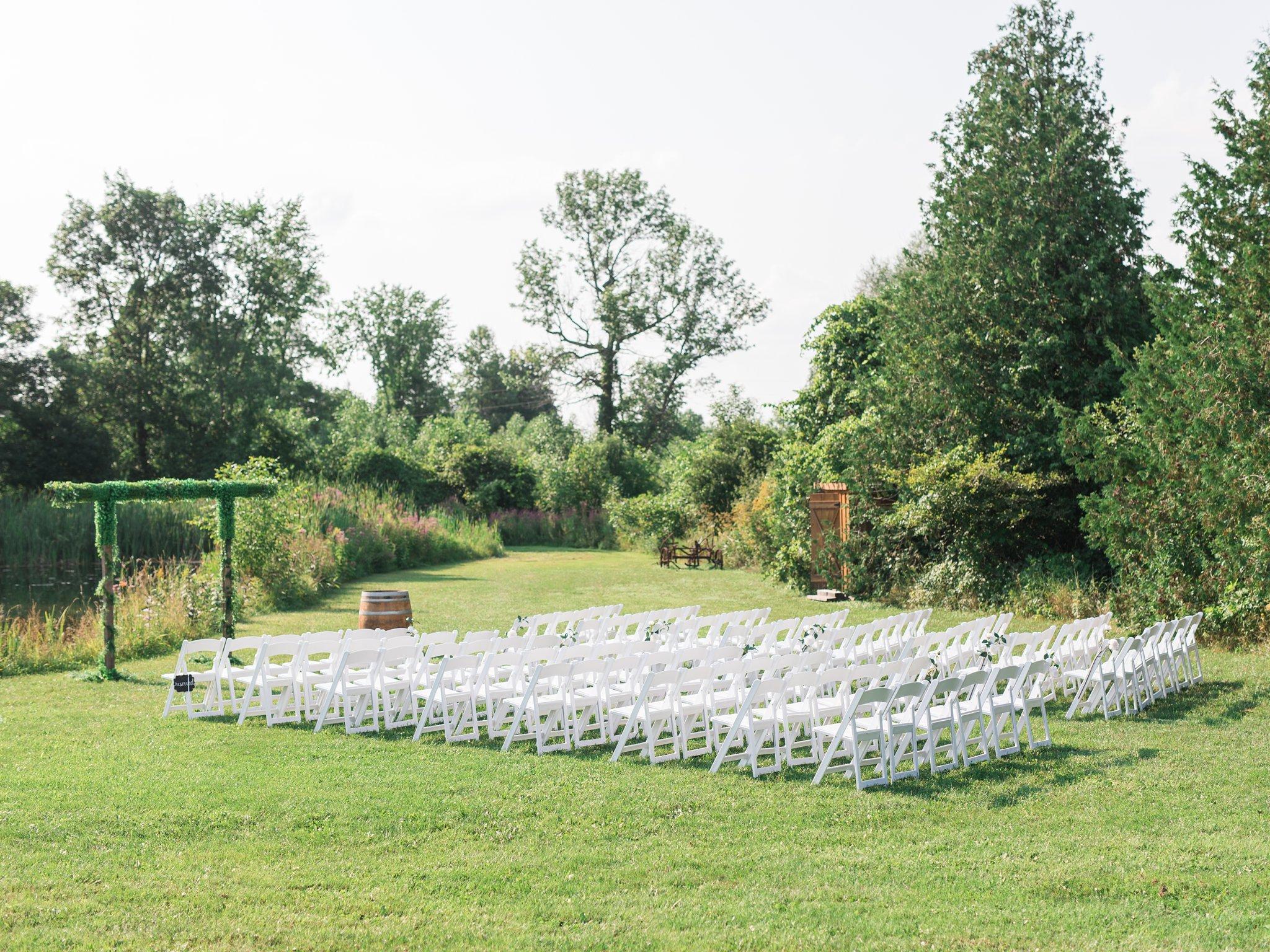 Pond ceremony site Vineyard wedding at Jabulani Amy Pinder Photography
