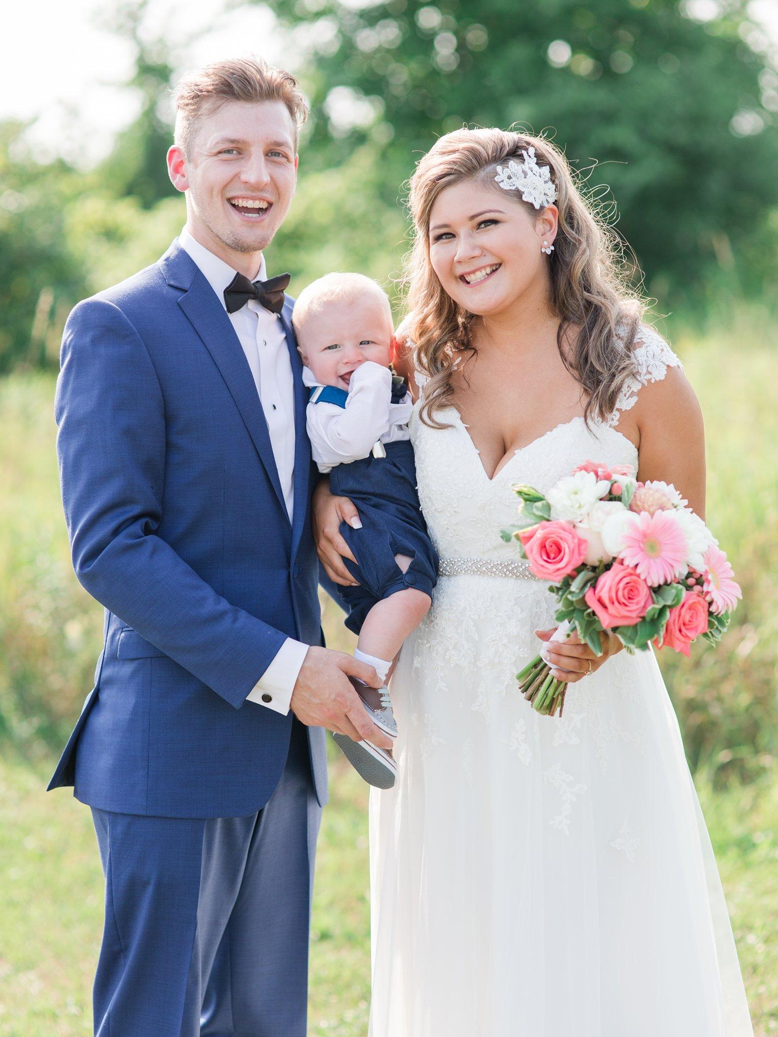 Bride groom and son at their Vineyard wedding at Jabulani Amy Pinder Photography