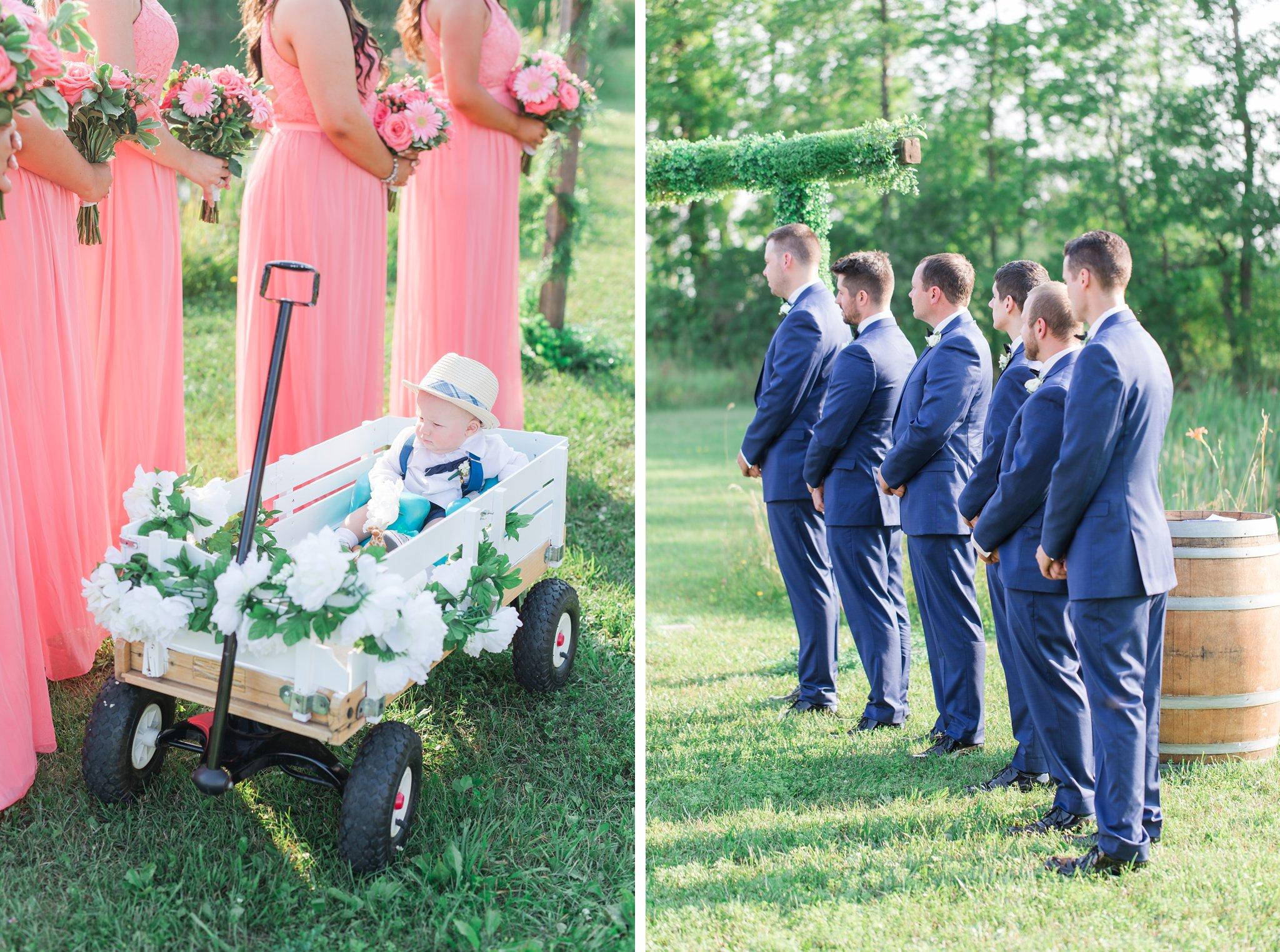 Just wait t'ill you see mommy wagon Vineyard wedding at Jabulani Amy Pinder Photography