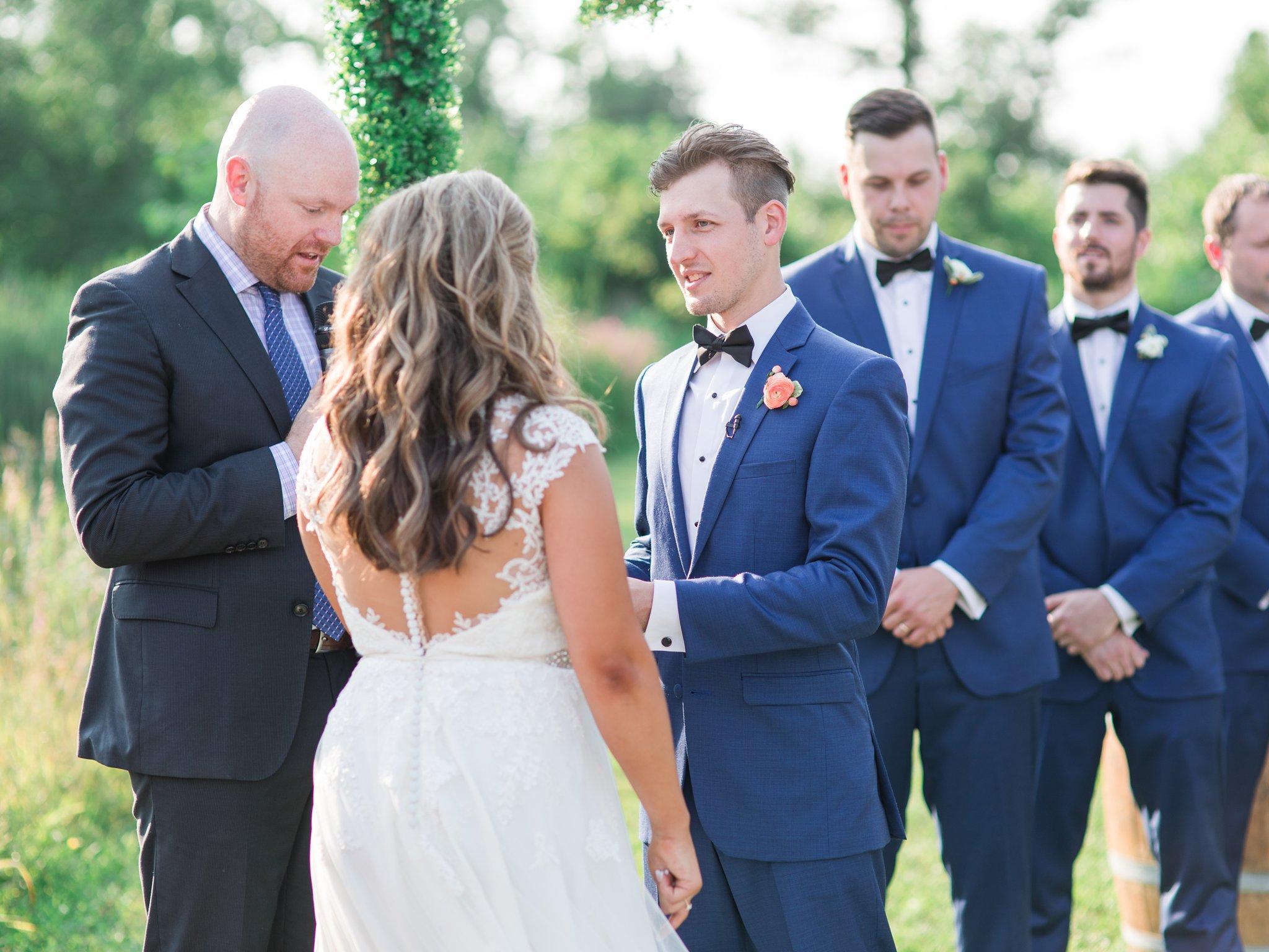 Groomsmen in blue suits Vineyard wedding at Jabulani Amy Pinder Photography