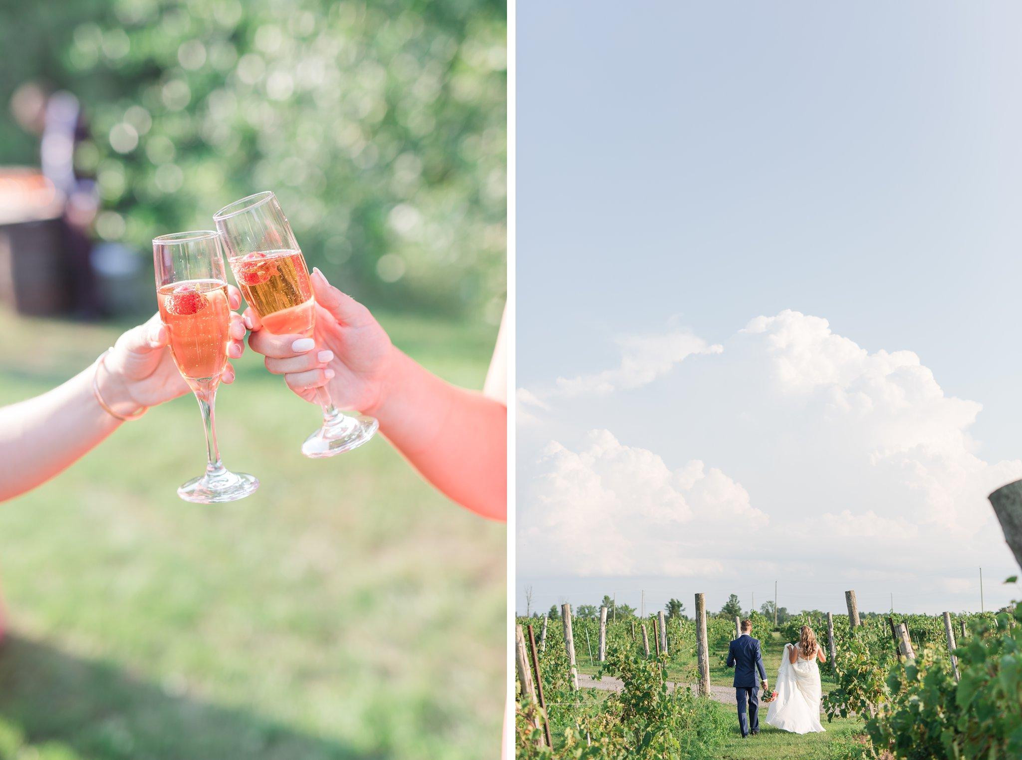 Ceremony cocktails Vineyard wedding at Jabulani Amy Pinder Photography