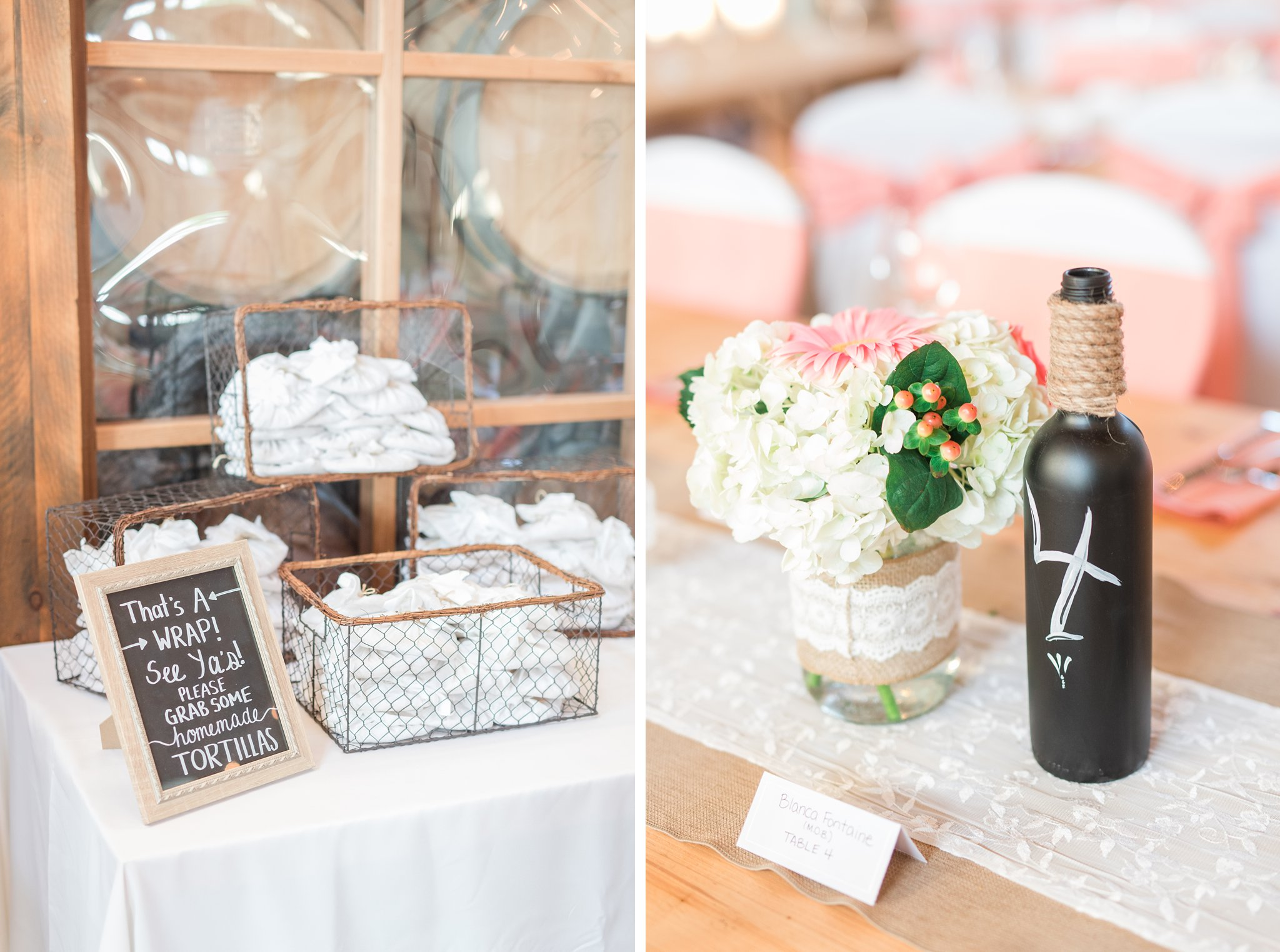 Homemade flour tortillas are the best wedding favour Vineyard wedding at Jabulani Amy Pinder Photography