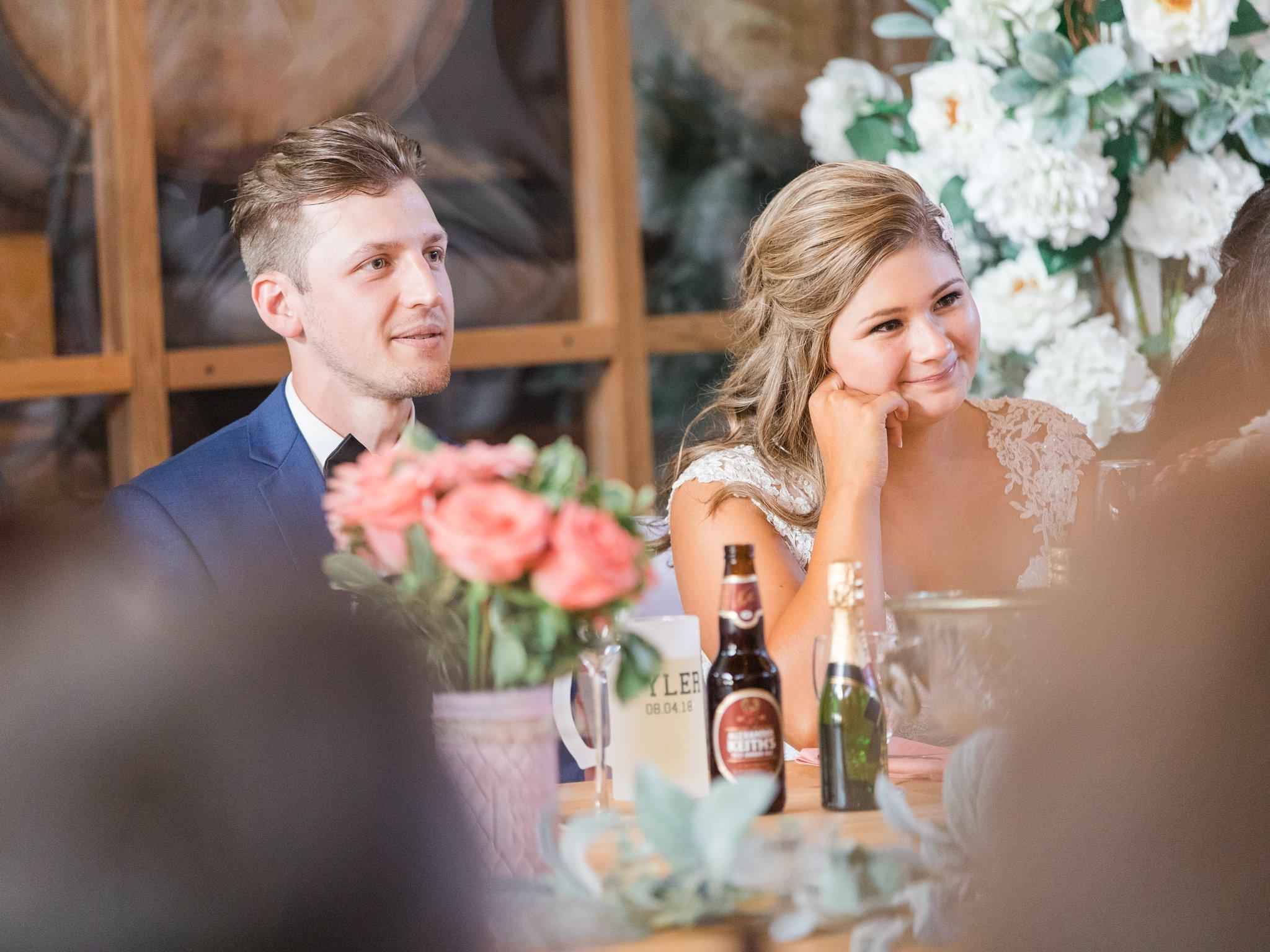 Reception speeches Vineyard wedding at Jabulani Amy Pinder Photography
