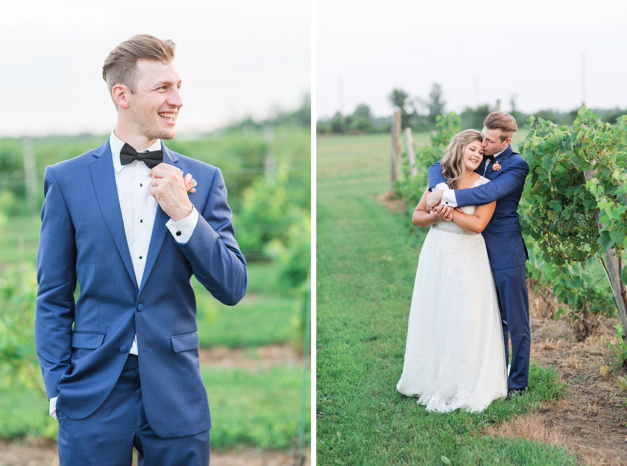 Morris Formalwear blue suit Vineyard wedding at Jabulani Amy Pinder Photography