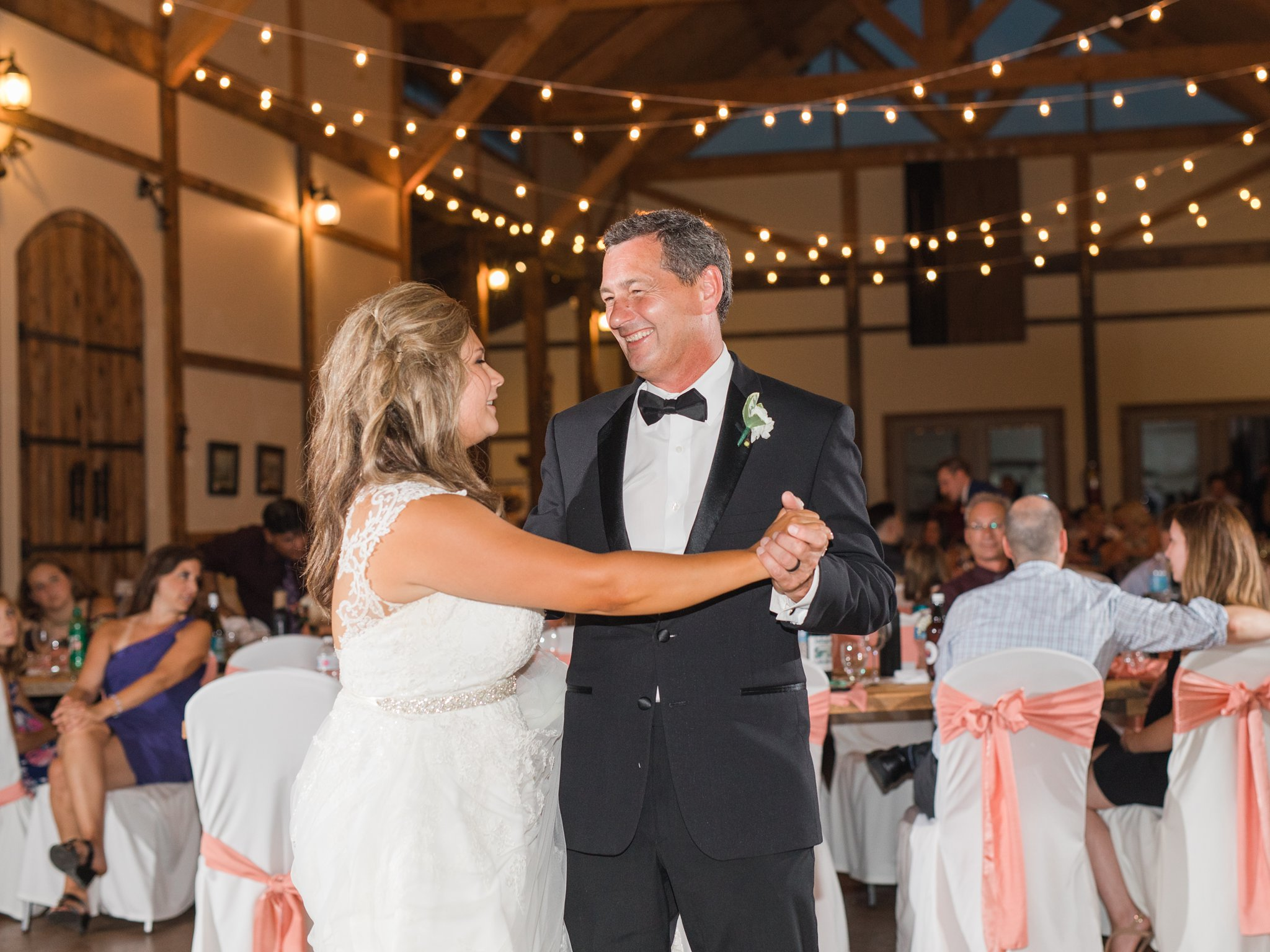 Father-daughter dance Vineyard wedding at Jabulani Amy Pinder Photography