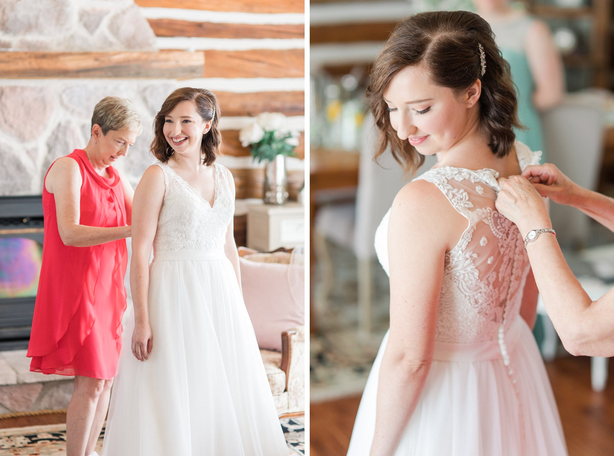 With Love Bridal Boutique lace back dress Dog-friendly wedding venue Ottawa Stonefields Amy Pinder Photography