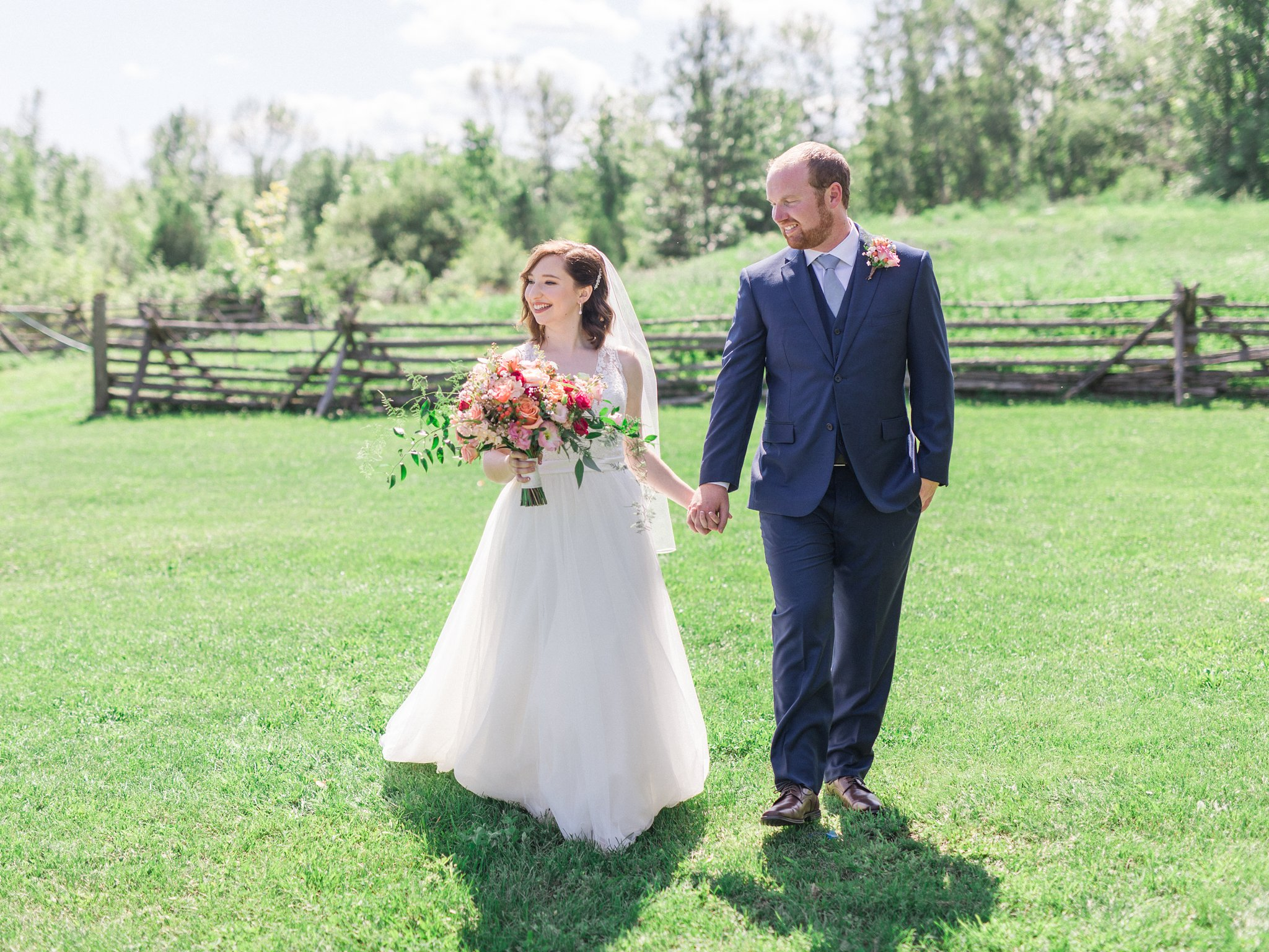 Dark blue suit Dog-friendly wedding venue Ottawa Stonefields Amy Pinder Photography