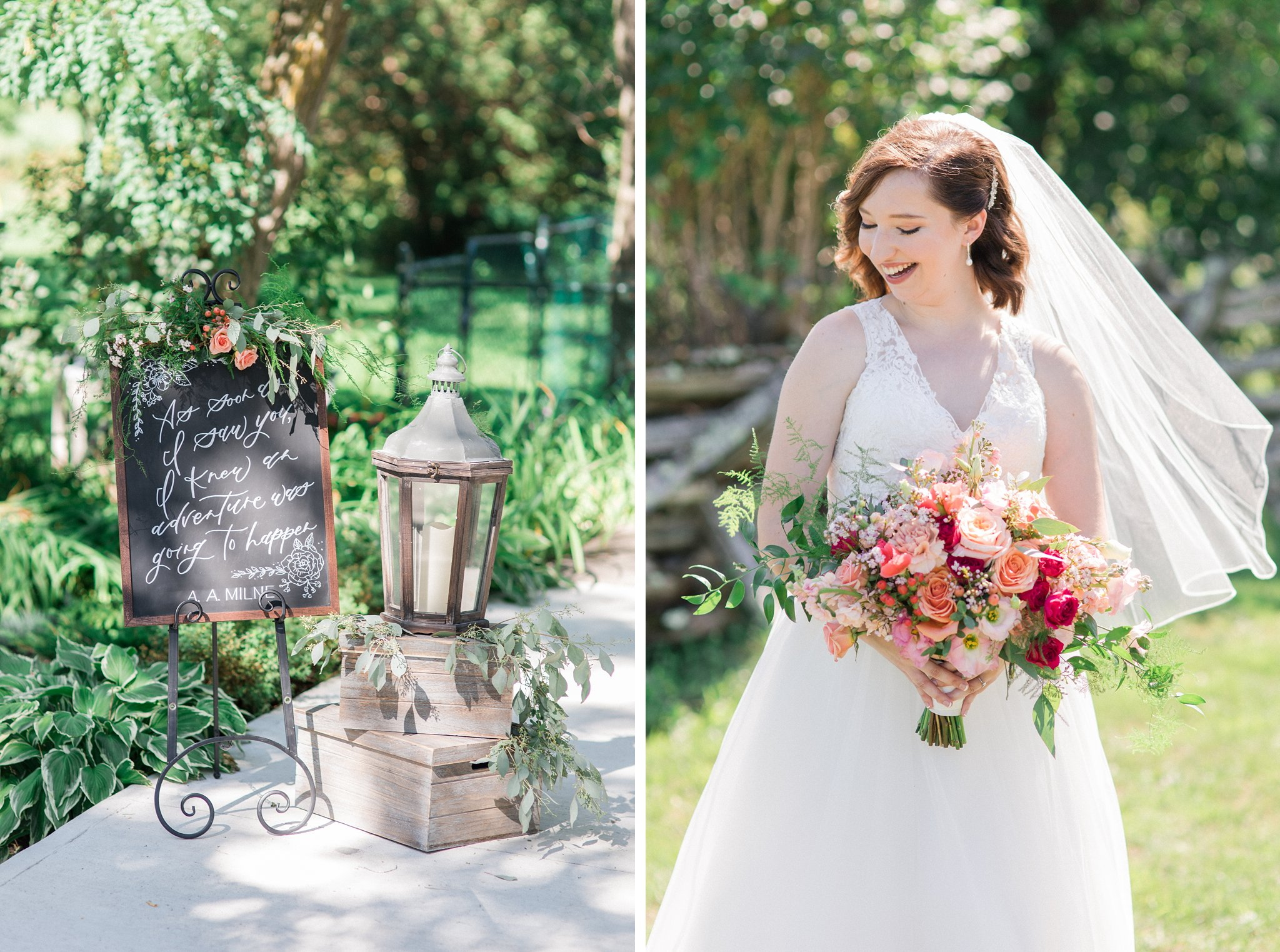 Chalked by Mabz ceremony calligraphy Dog-friendly wedding venue Ottawa Stonefields Amy Pinder Photography