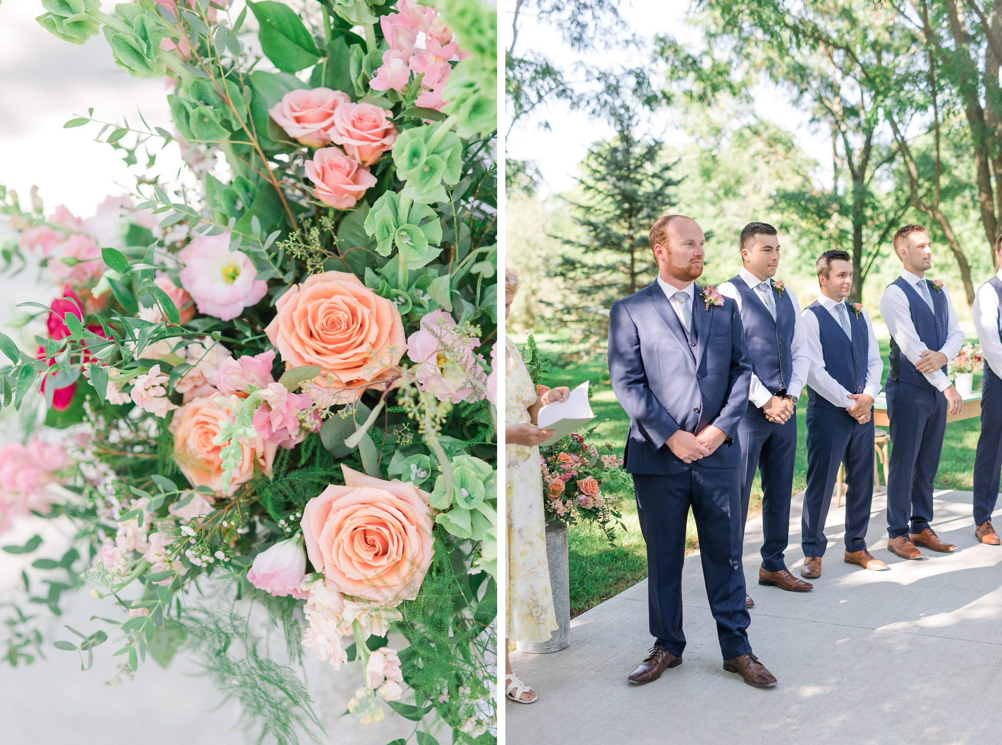 Facing away from farmhouse Dog-friendly wedding venue Ottawa Stonefields Amy Pinder Photography