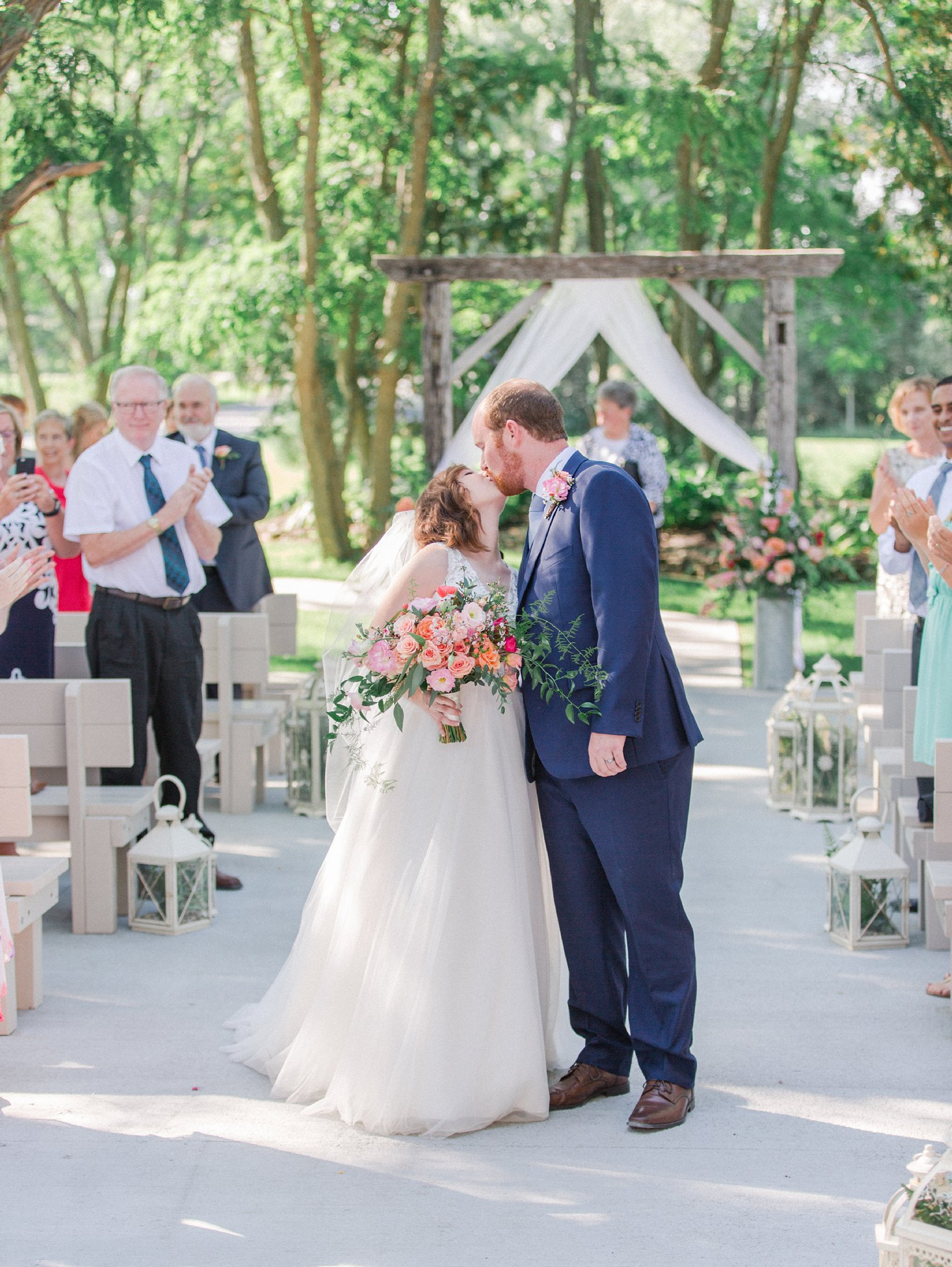 Second kiss down the aisle Dog-friendly wedding venue Ottawa Stonefields Amy Pinder Photography