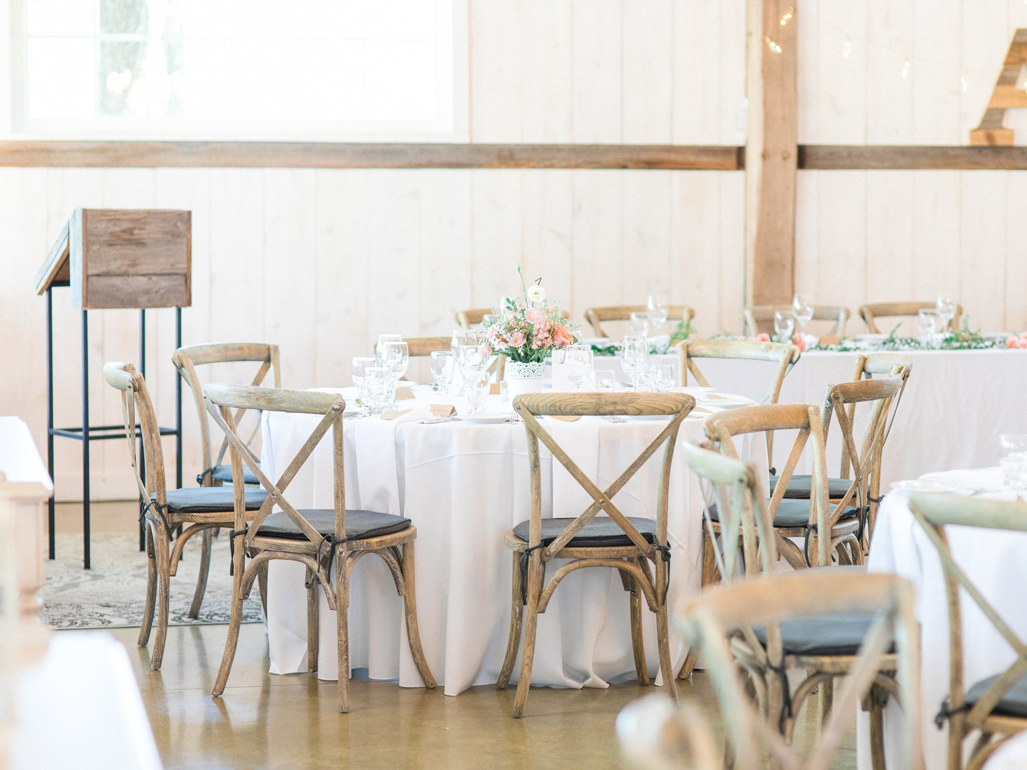 Round tables Dog-friendly wedding venue Ottawa Stonefields Amy Pinder Photography