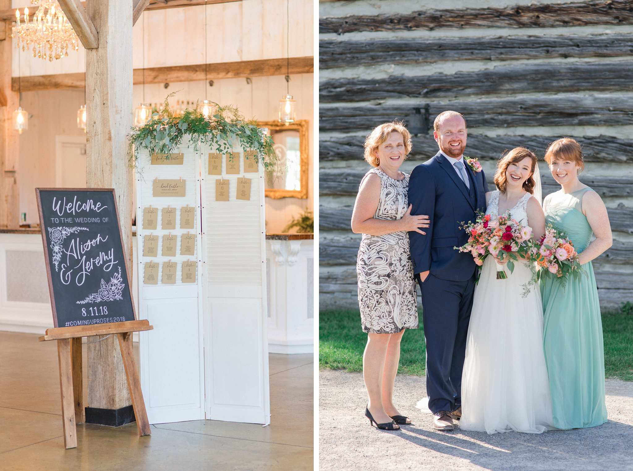 Calligraphy seating chart Dog-friendly wedding venue Ottawa Stonefields Amy Pinder Photography