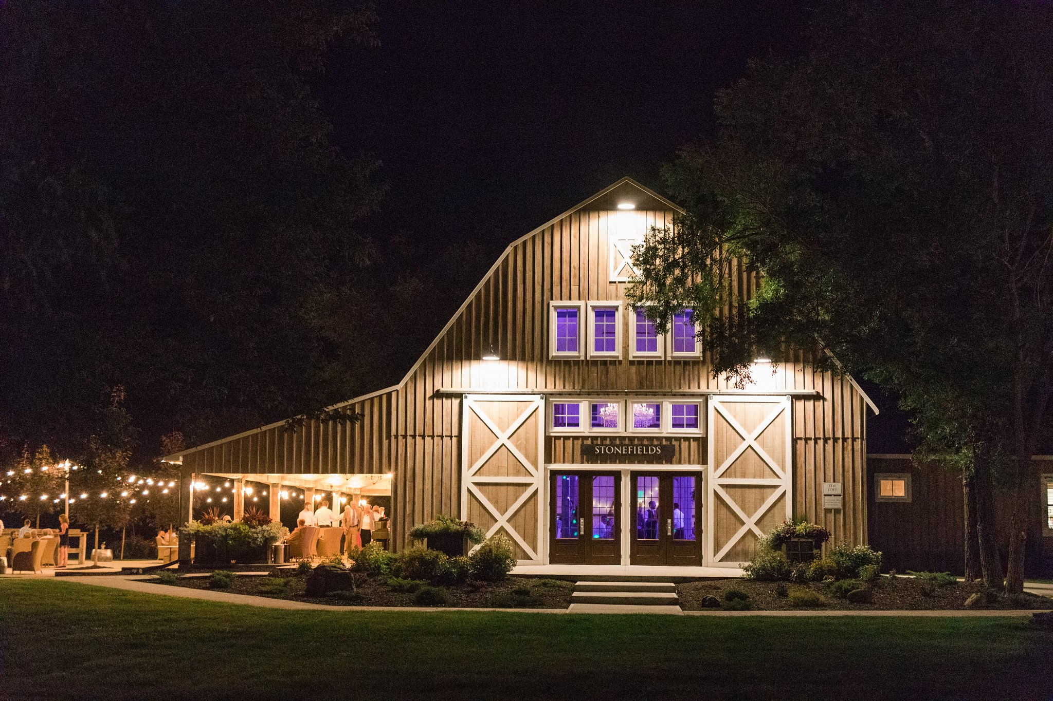Stonefields at night Dog-friendly wedding venue Ottawa Stonefields Amy Pinder Photography