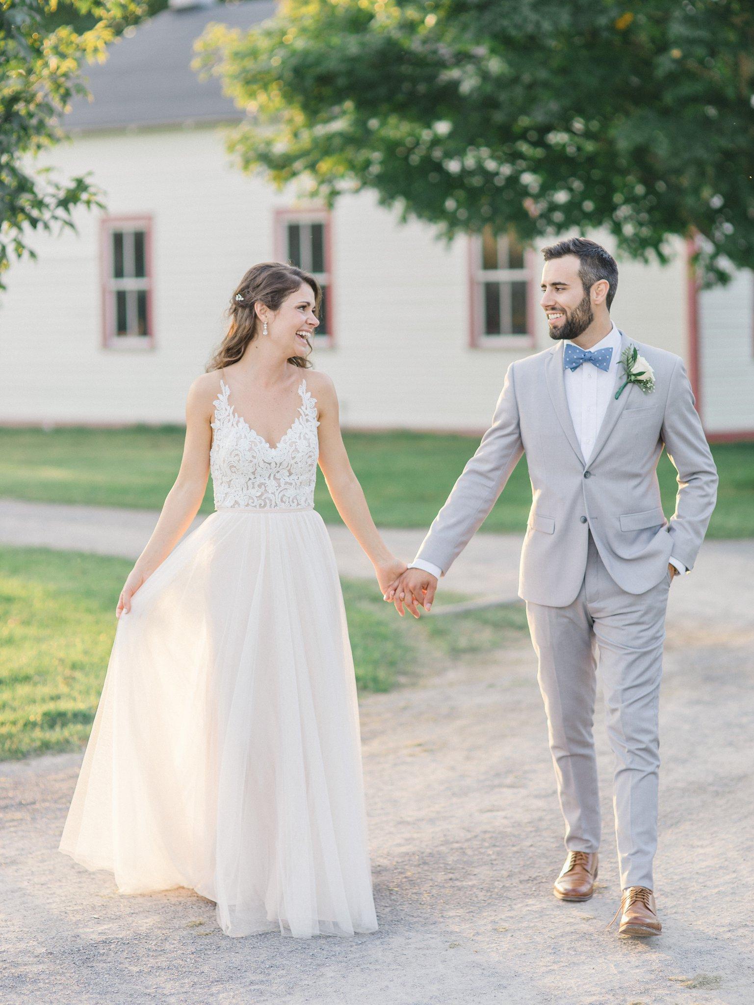 sunset photos Outdoor wedding at Cumberland Heritage Museum Amy Pinder Photography