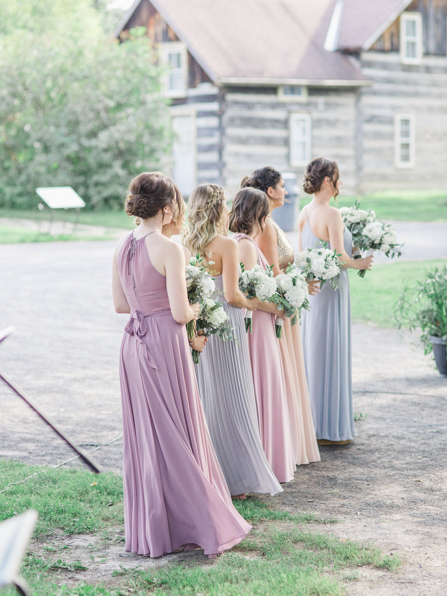 Bridesmaids at Outdoor wedding at Cumberland Heritage Museum Amy Pinder Photography