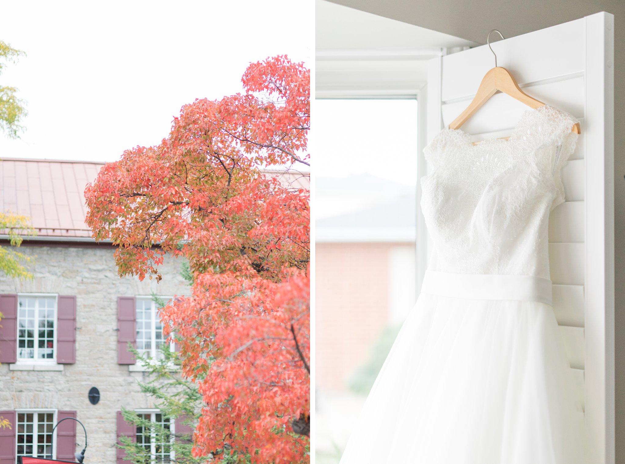 Alliance Bridal cap sleeve lace dress Fall Wedding Photos Ottawa Mill Street Brew Pub