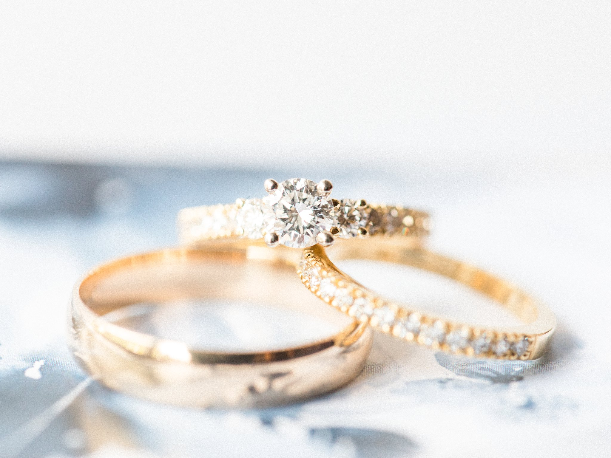 Yellow gold ring shot; Hilton Garden Inn Ottawa Airport Hotel Wedding