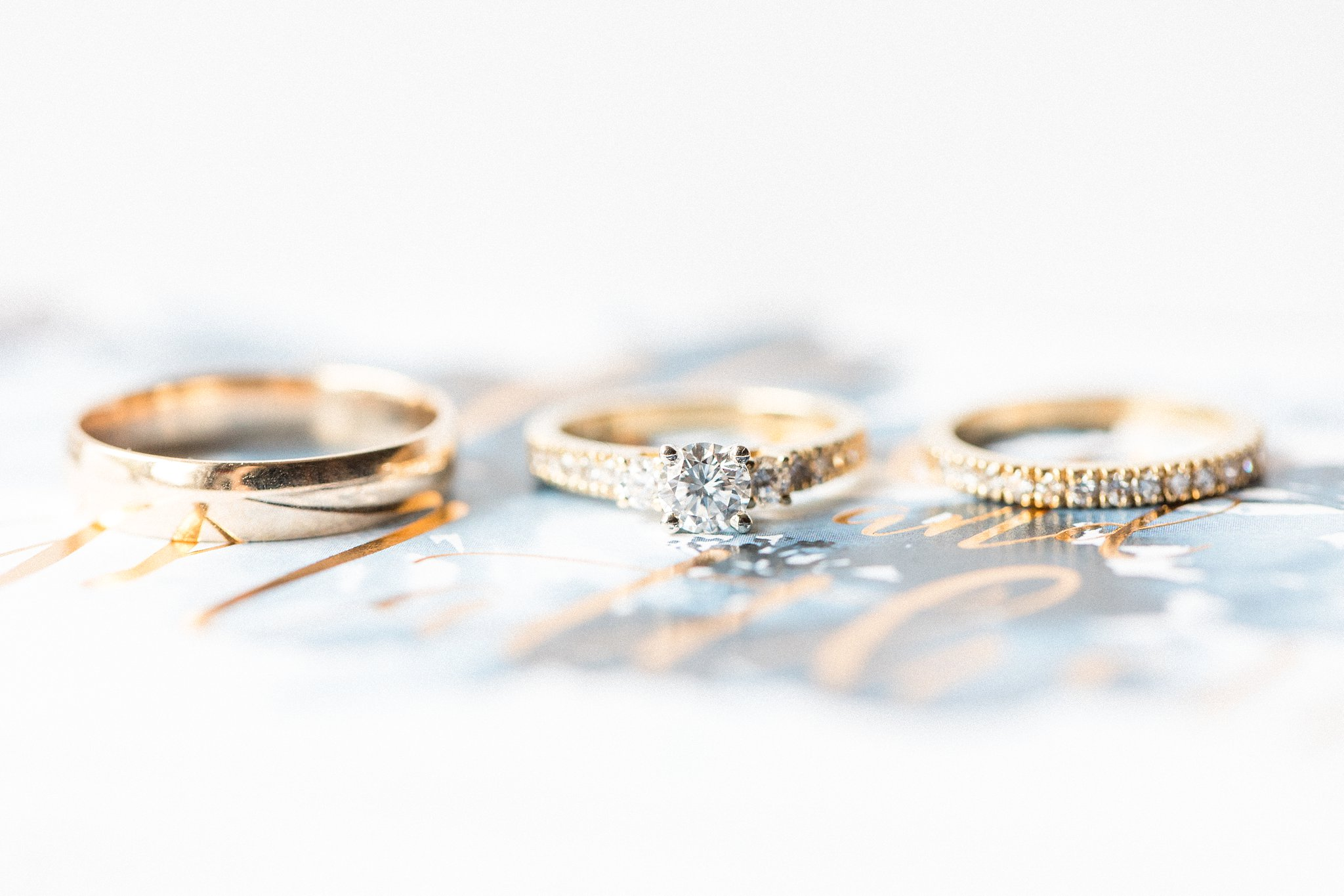 Yellow gold wedding rings Hilton Garden Inn Ottawa Airport Hotel Wedding