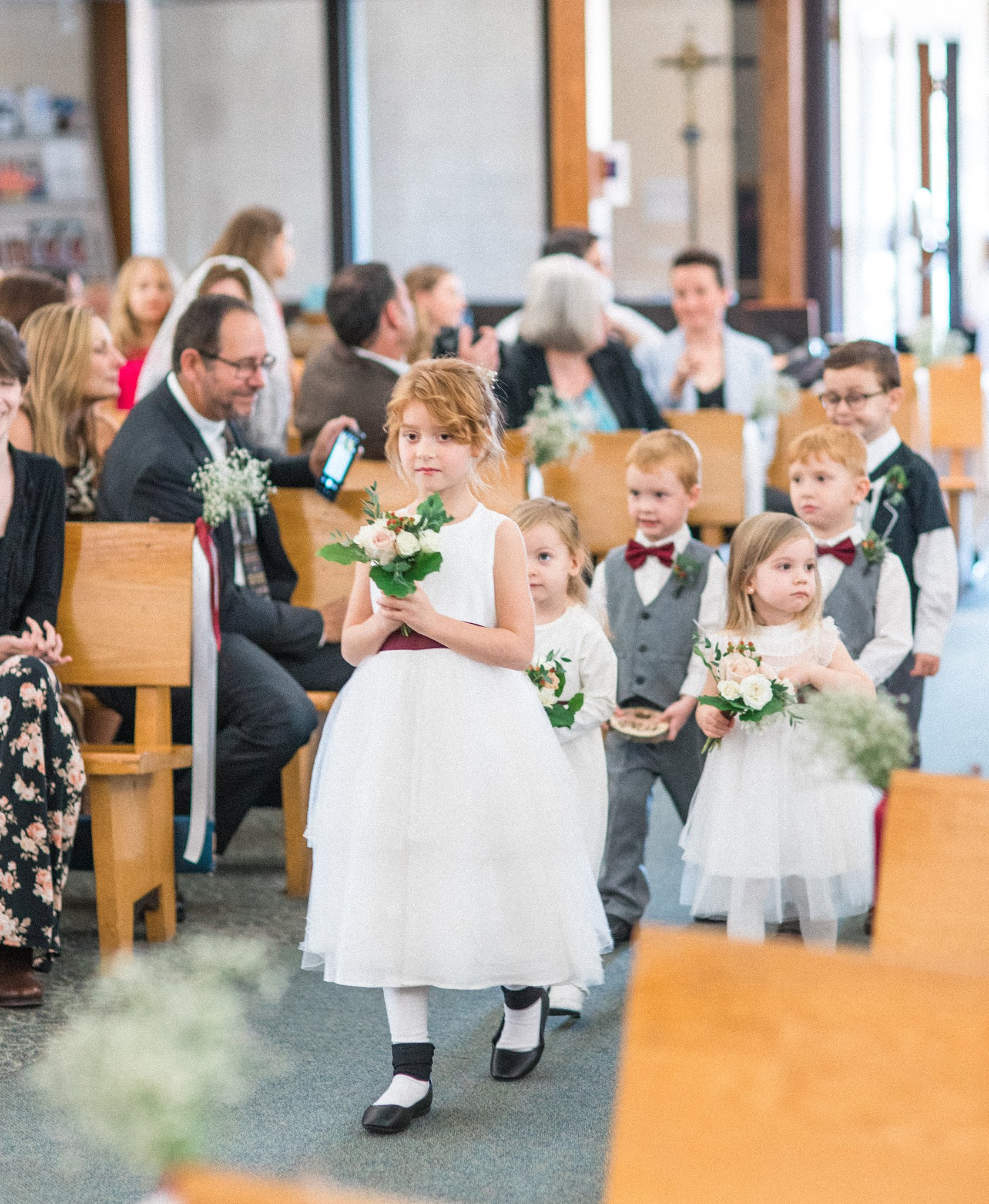 Flower girls ring bearers Hilton Garden Inn Ottawa Airport Hotel Wedding