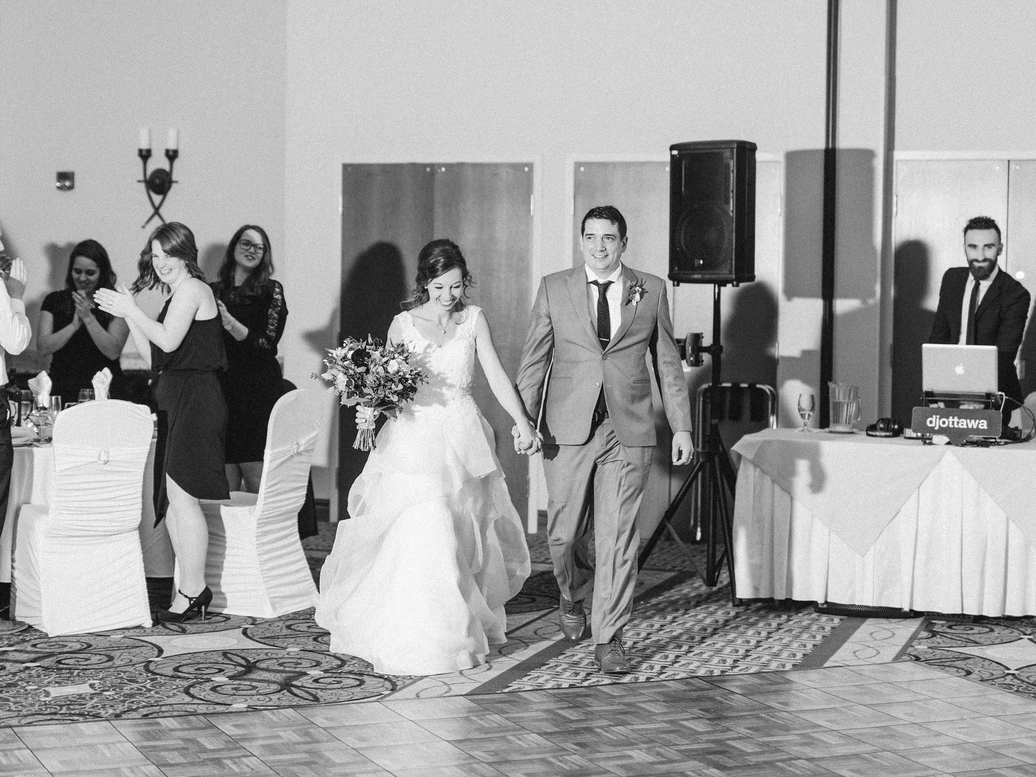 Grand entrance at Hilton Garden Inn Ottawa Airport Hotel Wedding