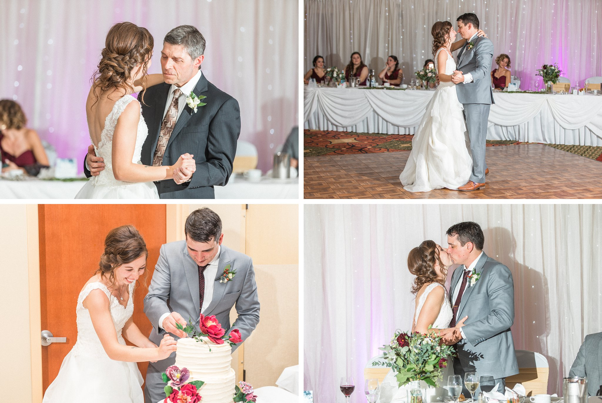 First dance and cake cutting, Hilton Garden Inn Ottawa Airport Hotel Wedding