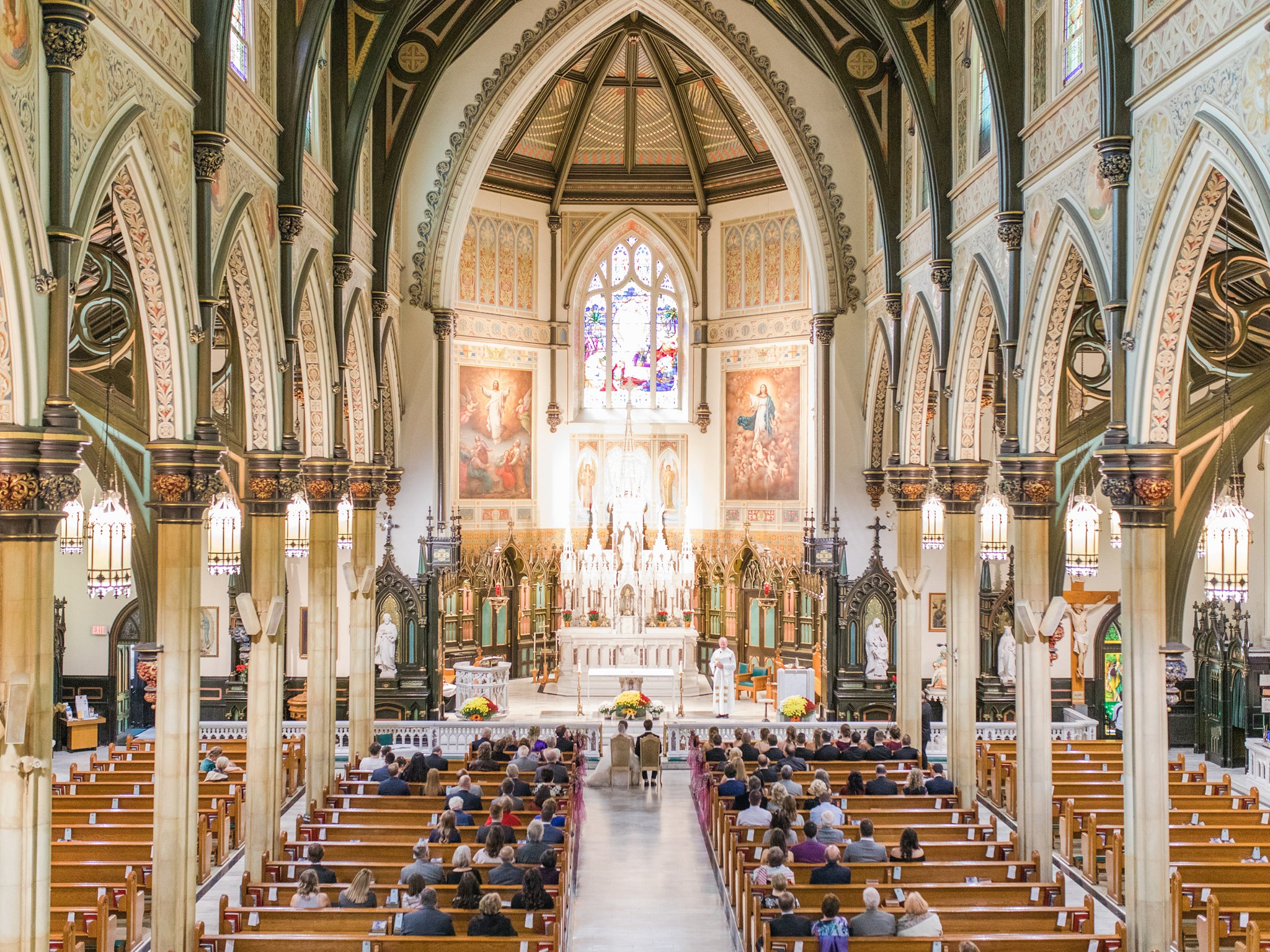 St. Patrick Basilica Ottawa ceremony A Festive Fall Wedding at the Canadian Museum of Nature