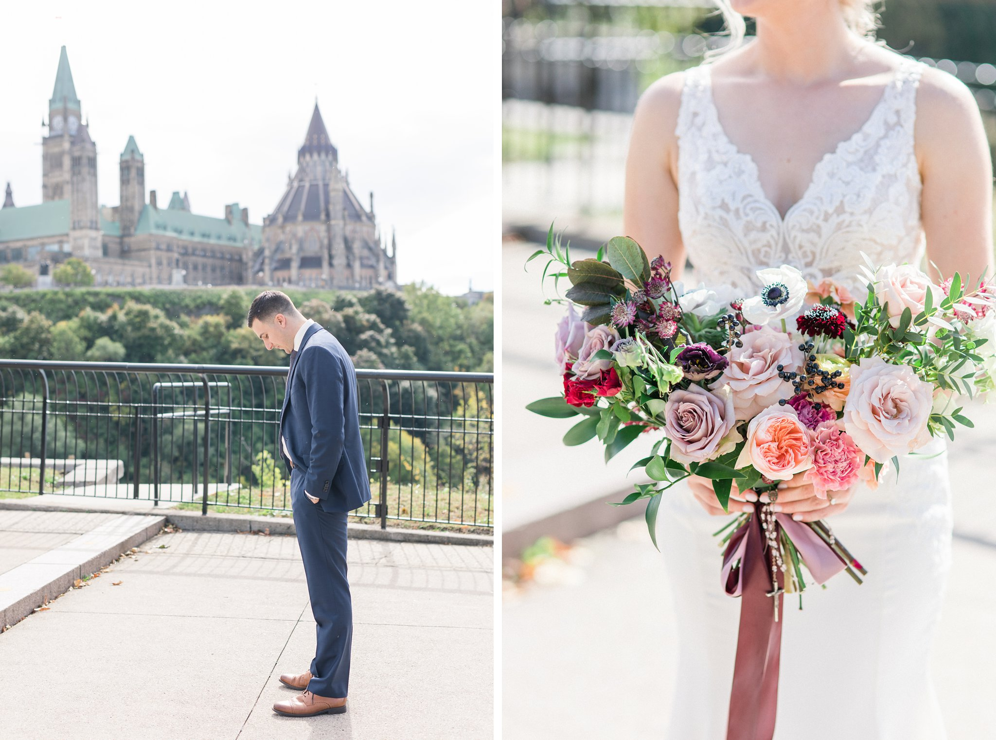 The first look Ottawa restaurant wedding at Sidedoor Restaurant