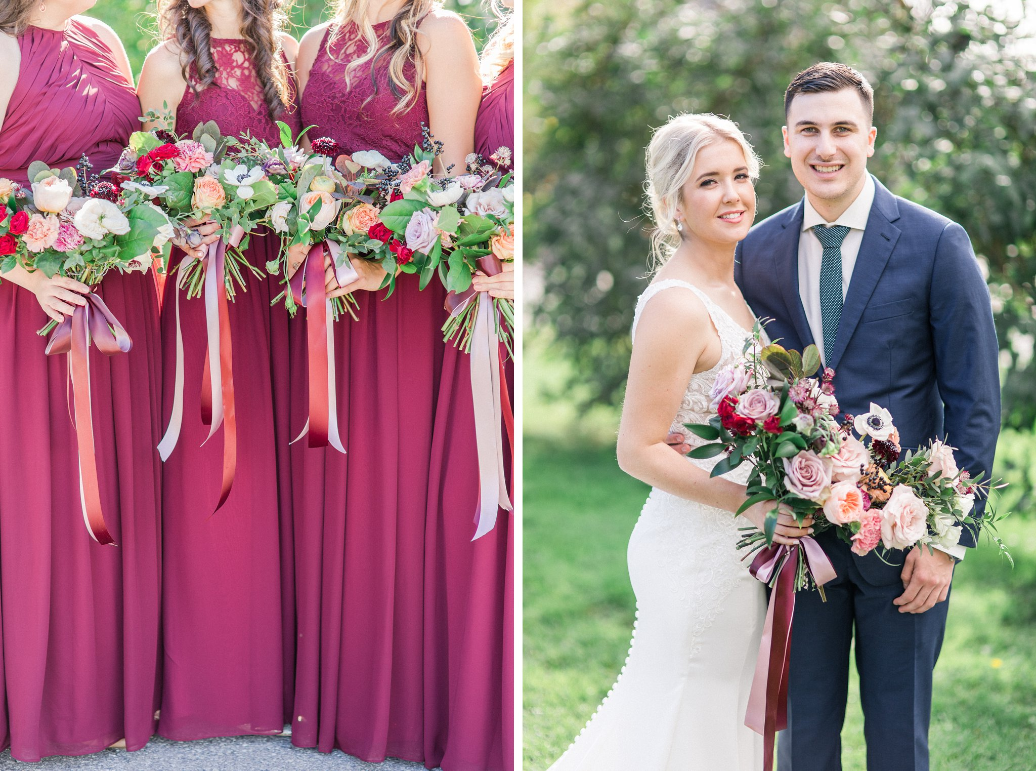 Cranberry dresses Ottawa restaurant wedding at Sidedoor Restaurant