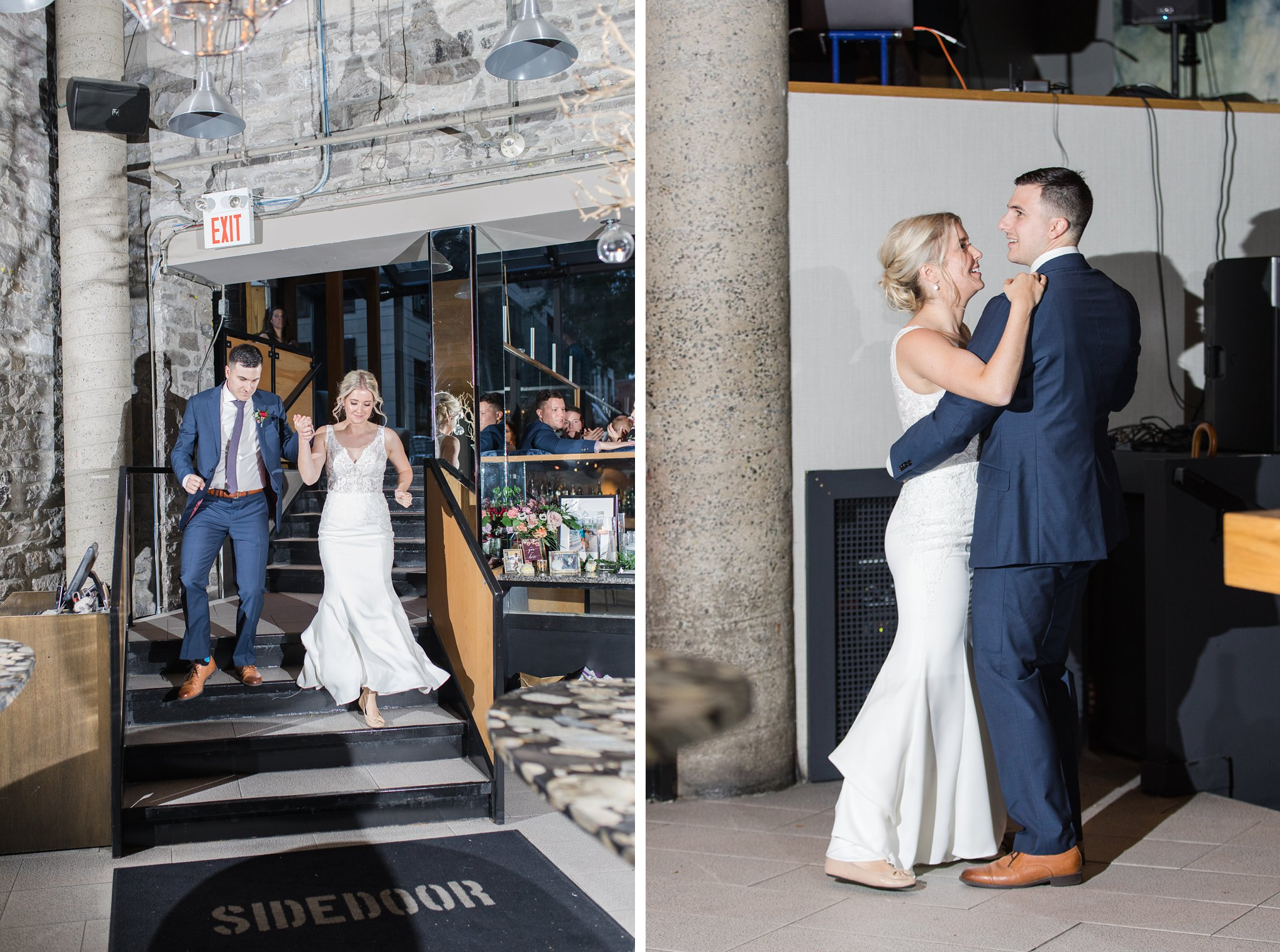 Grand entrance Ottawa restaurant wedding at Sidedoor Restaurant