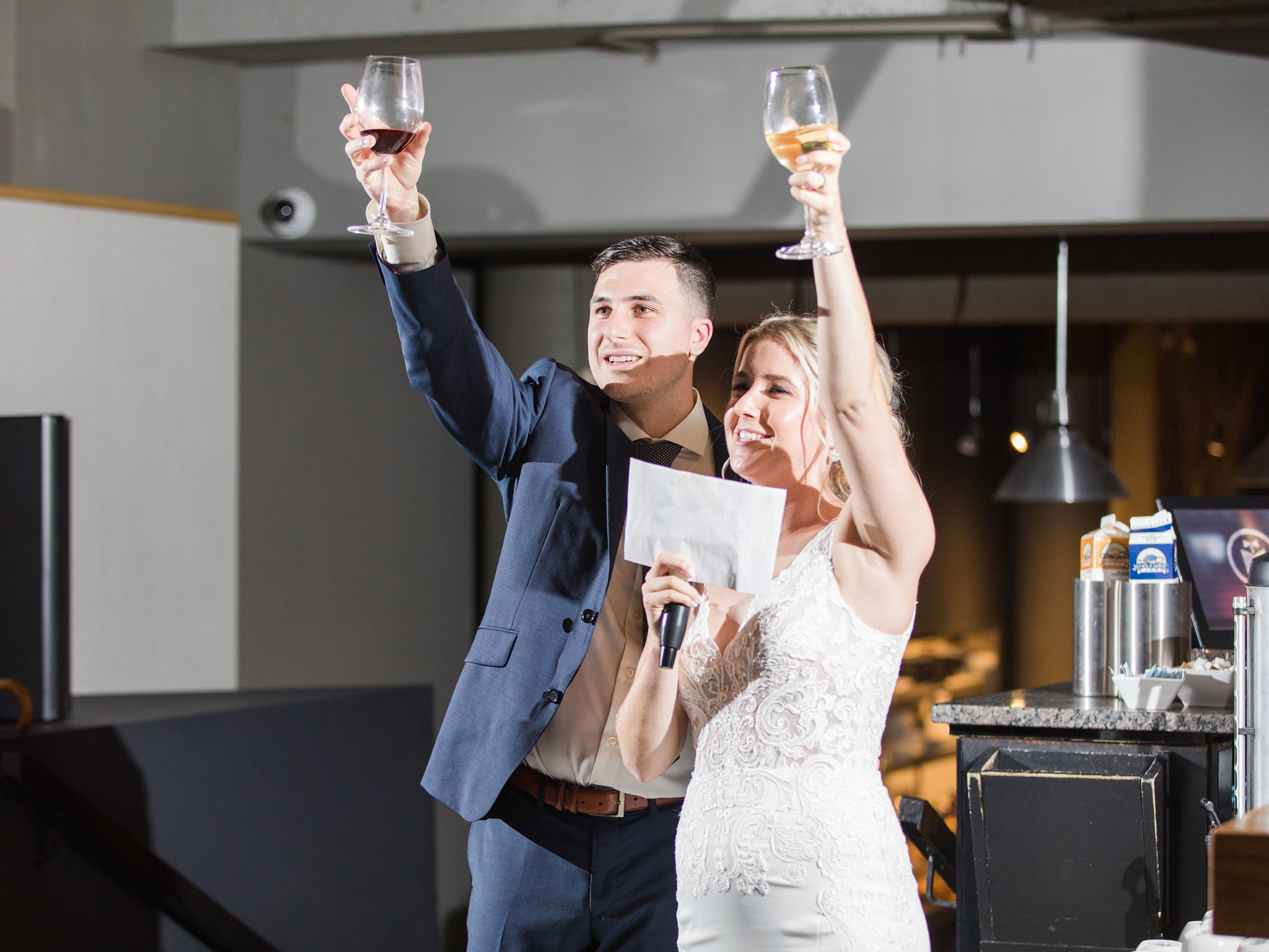 Final wedding toast Ottawa restaurant wedding at Sidedoor Restaurant
