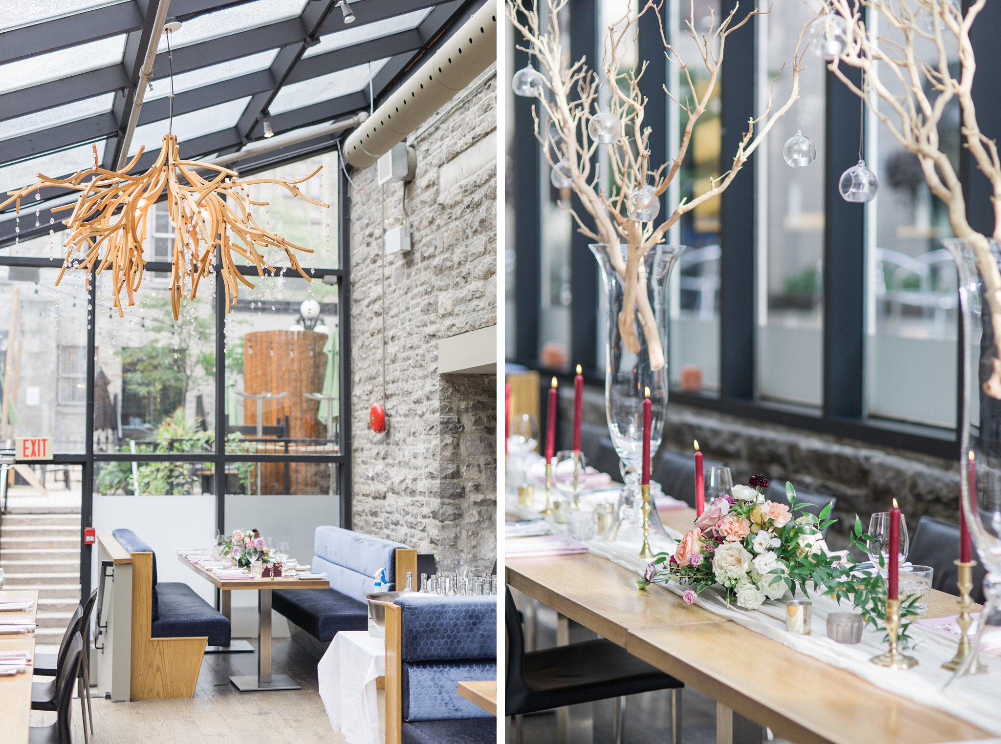 Byward market Ottawa restaurant wedding at Sidedoor Restaurant