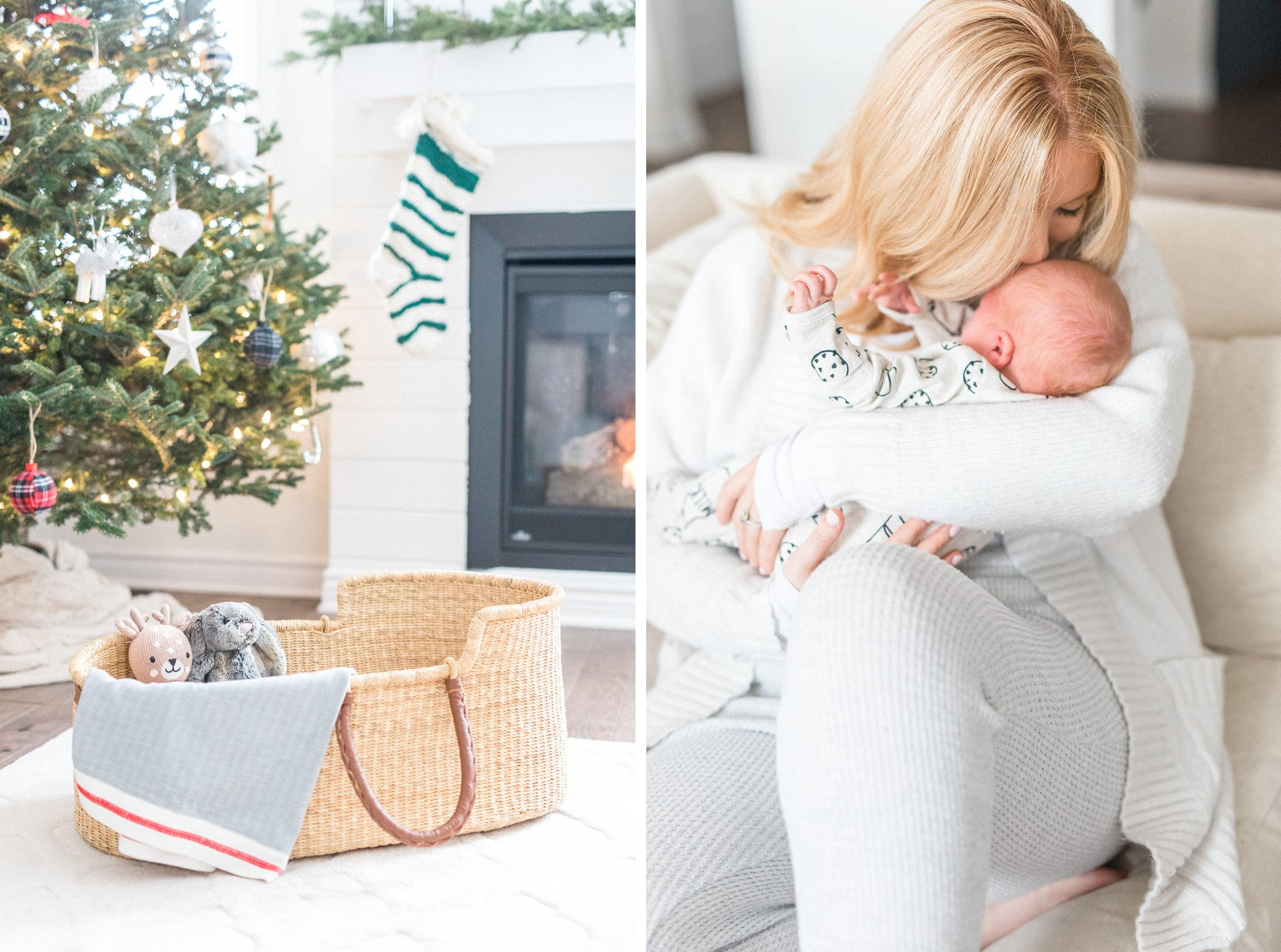Festive Newborn Lifestyle Photos During the Christmas Holidays