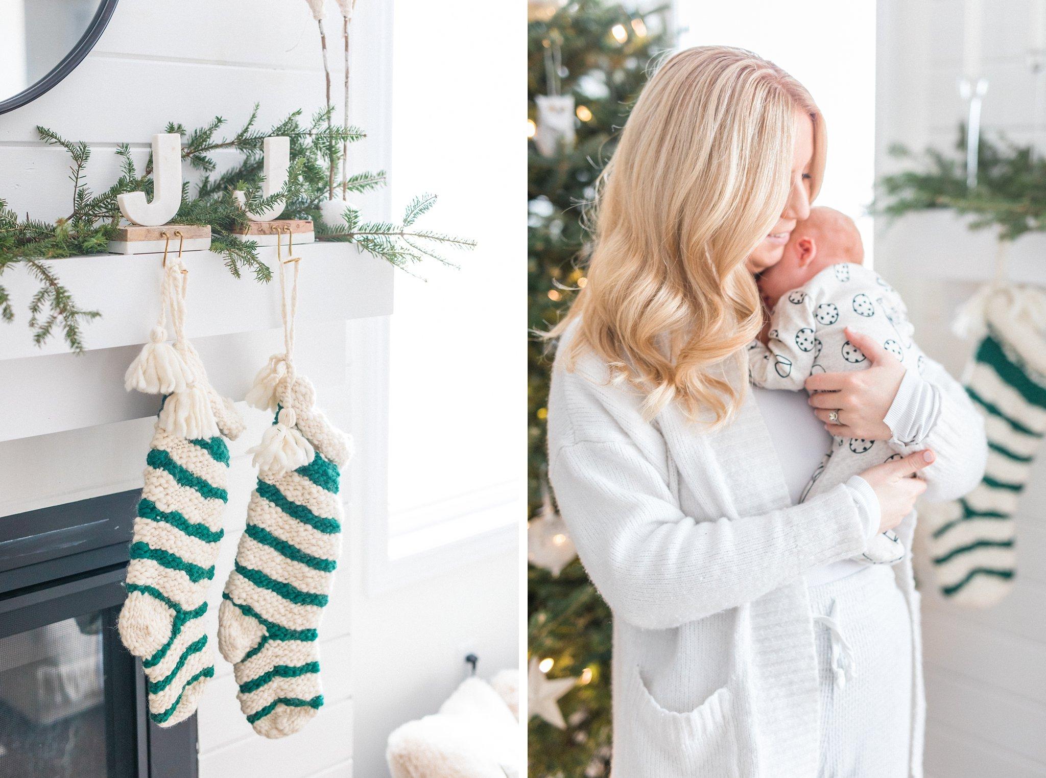 Festive Newborn Lifestyle Photos During the Christmas Holidays