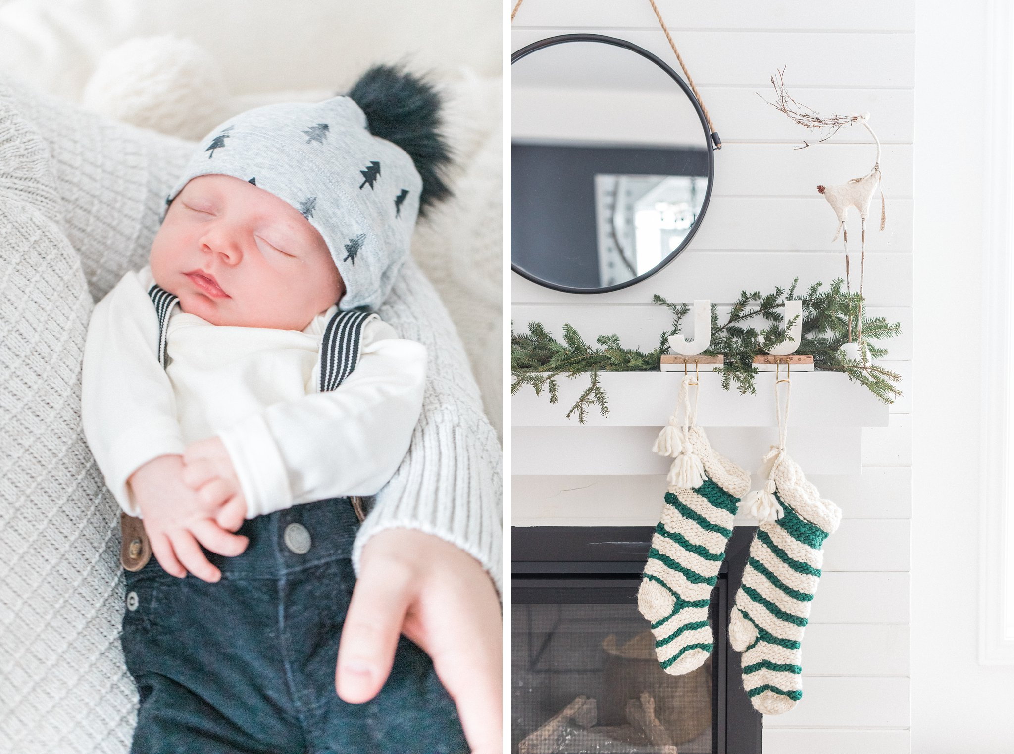 Newborn Lifestyle Photos During the Christmas Holidays