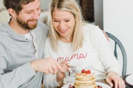Pancake traditions, Lifestyle Maternity Photos in Ottawa on 'Pancake Sunday'