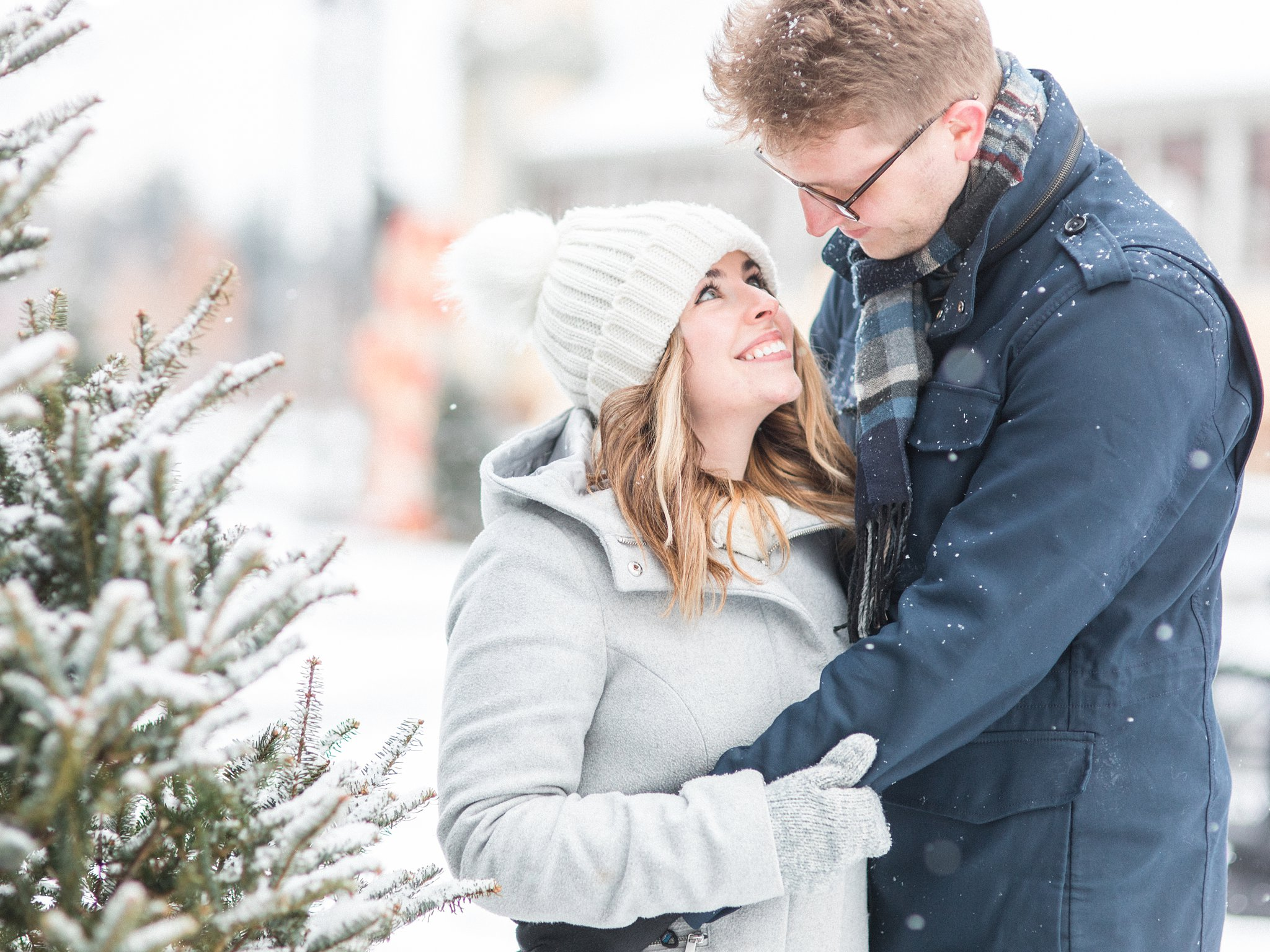Winter Lansdowne Engagement Photos in the Glebe