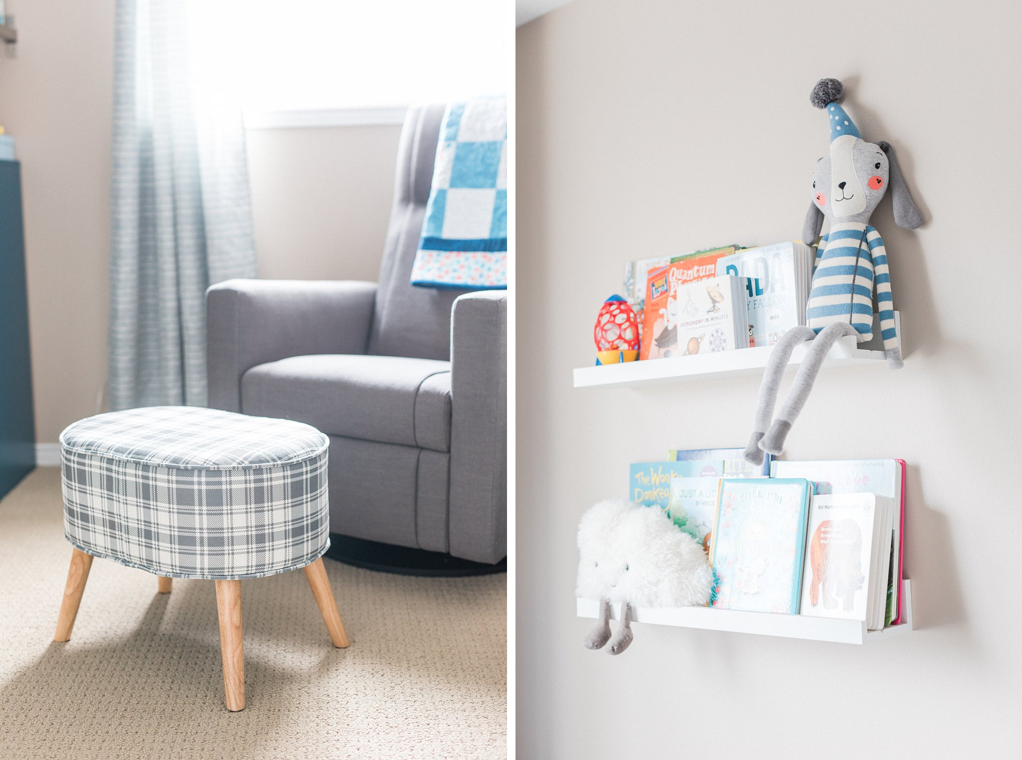 Grey nursery decor, Lifestyle Newborn Session, Baby's First Christmas