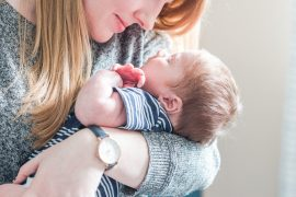 Mother and son cuddle, Lifestyle Newborn Session, Baby's First Christmas